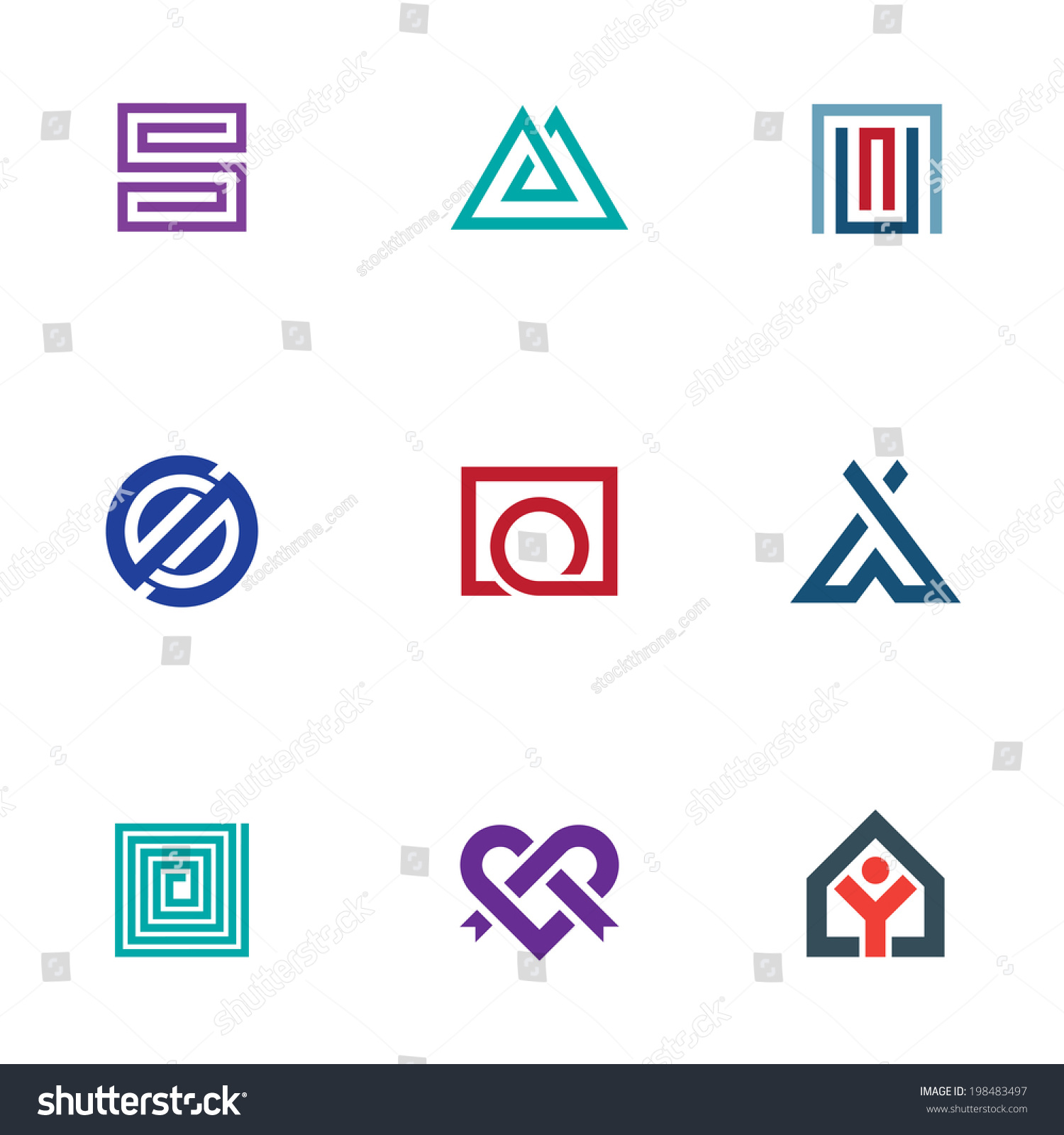 Professional Business Icon Set Digital Age Logo Office ...