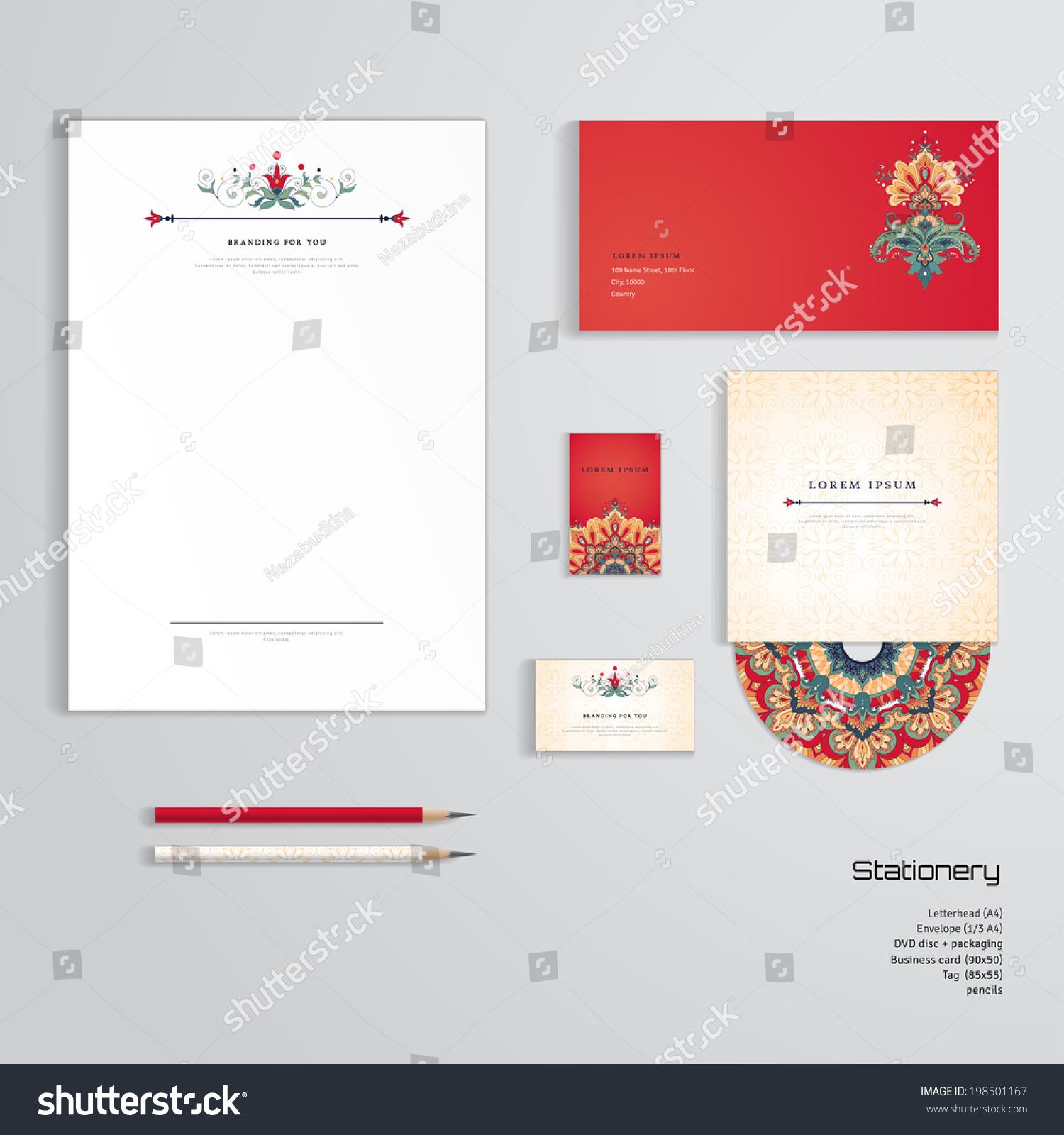 Vector identity templates letterhead envelope business stock vector vector identity templates letterhead envelope business card tag disc with packaging colourmoves
