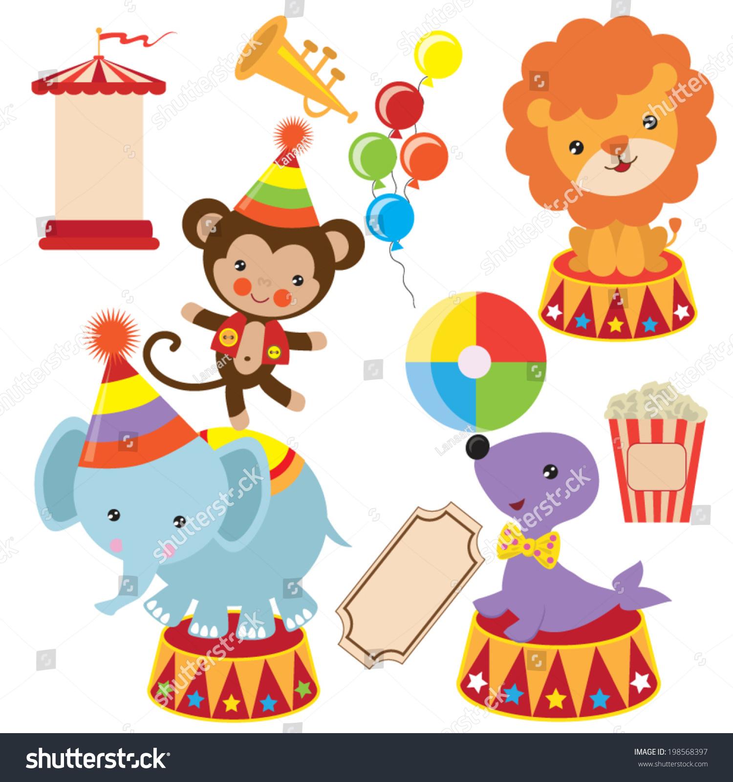 Retro Circus Vector Illustration Stock Vector 198568397 - Shutterstock