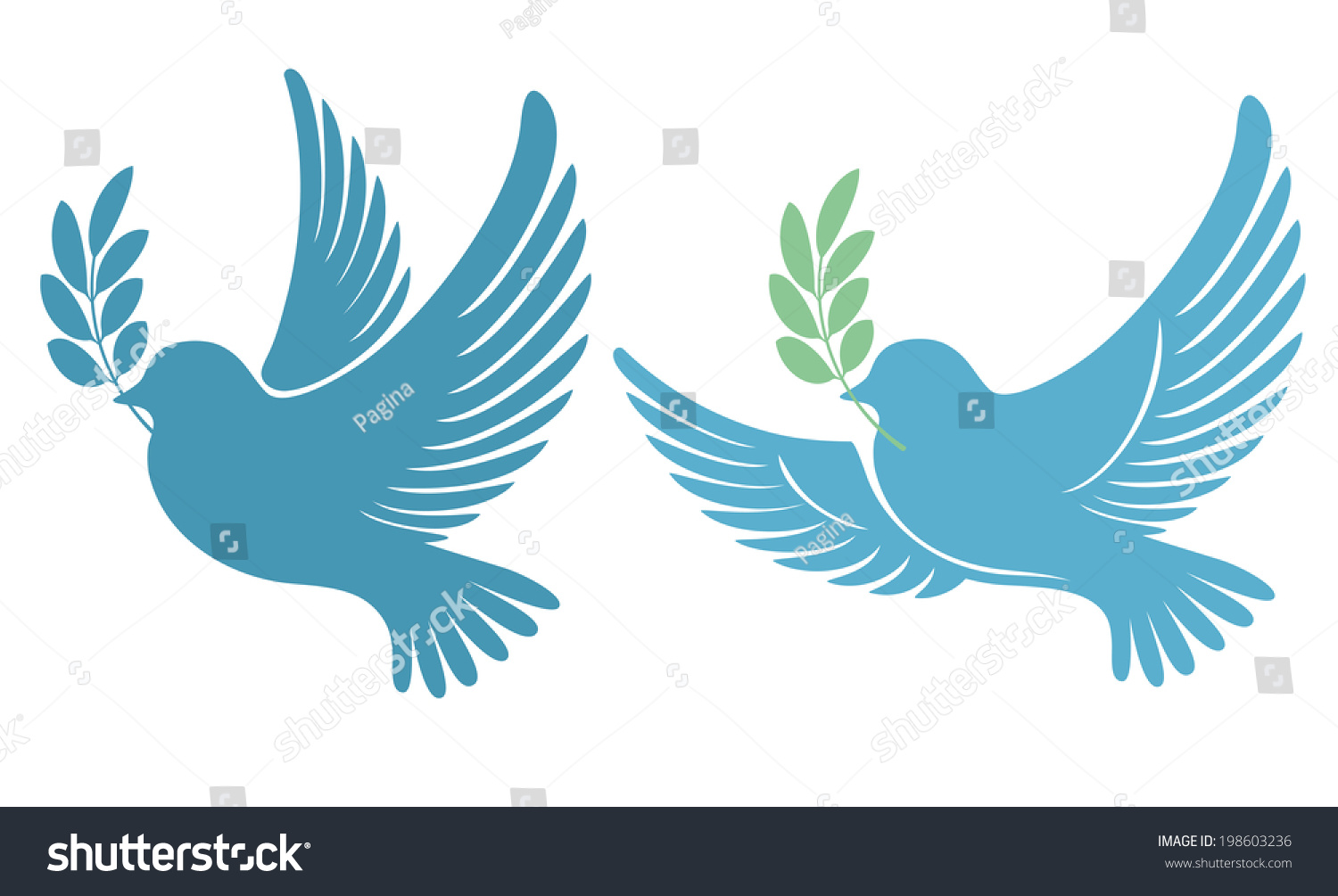 Dove Olive Branch Symbol Peace Hope Stock Vector Royalty Free