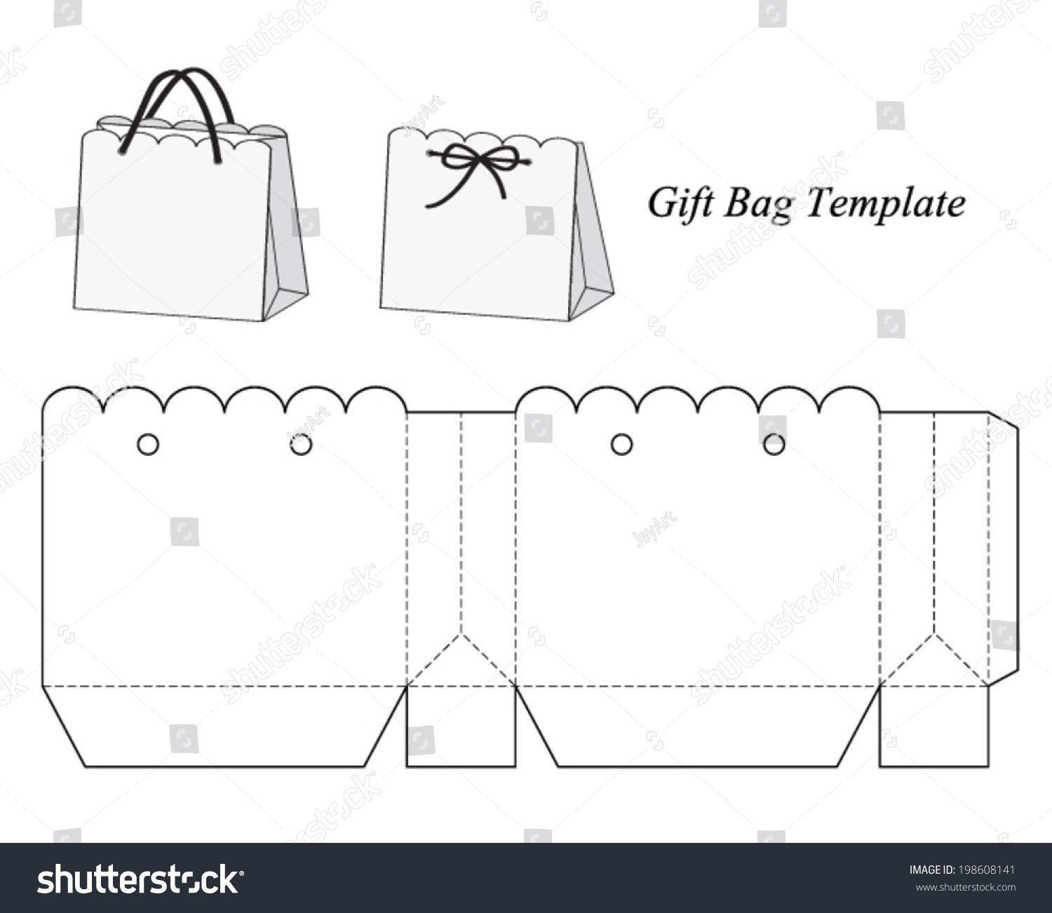 Royalty Free Interesting Gift Bag Template Vector
