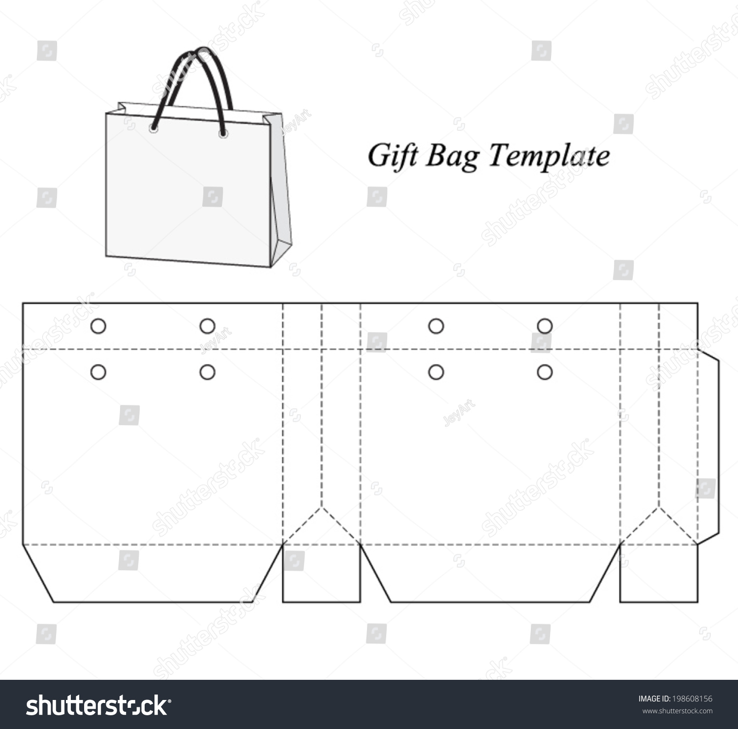 shopping bag template  Royalty-free Shopping bag template, vector… #198608156 Stock Photo ...