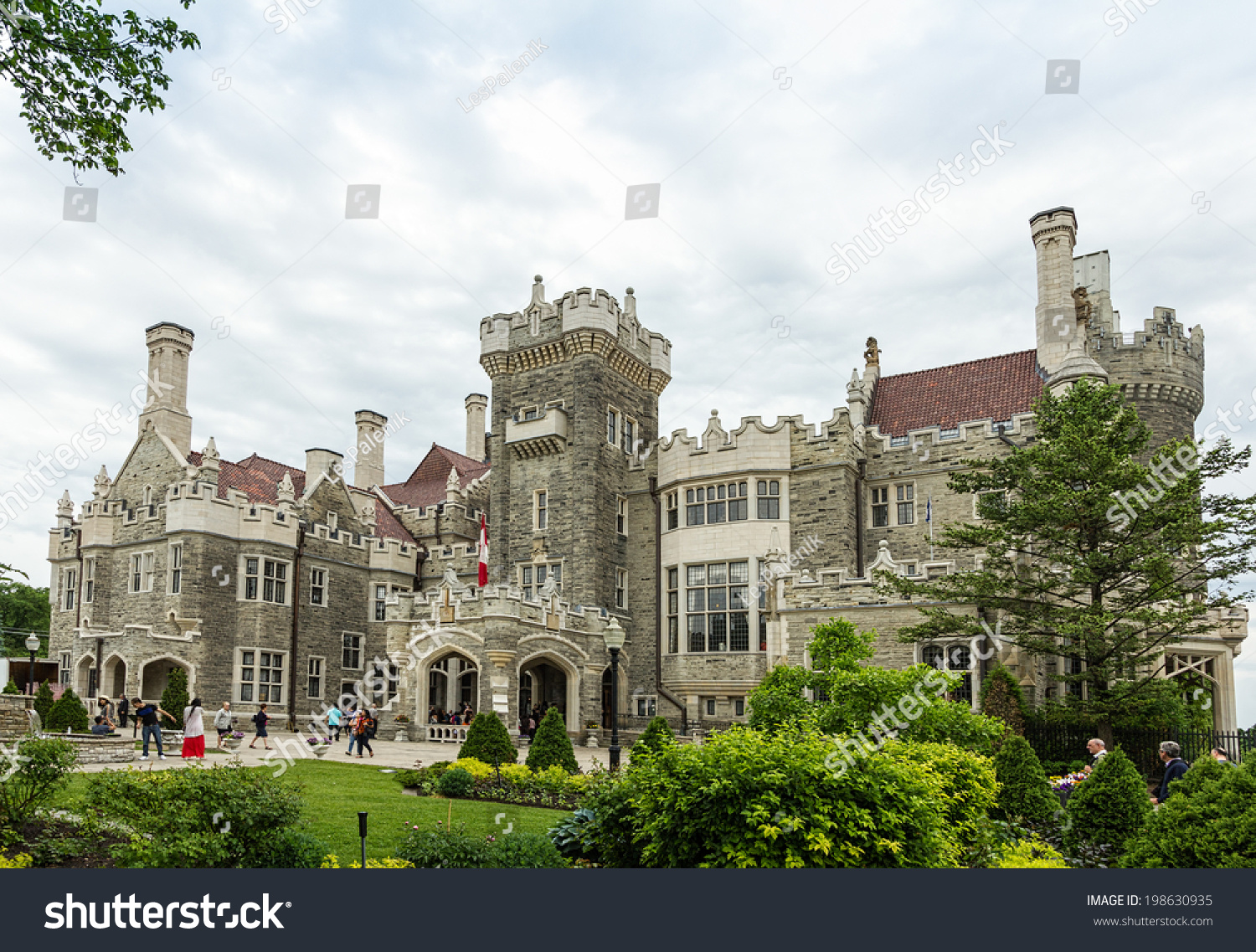 Casa loma toronto june 8 2014 stock photo 198630935 for Casa loma mansion toronto