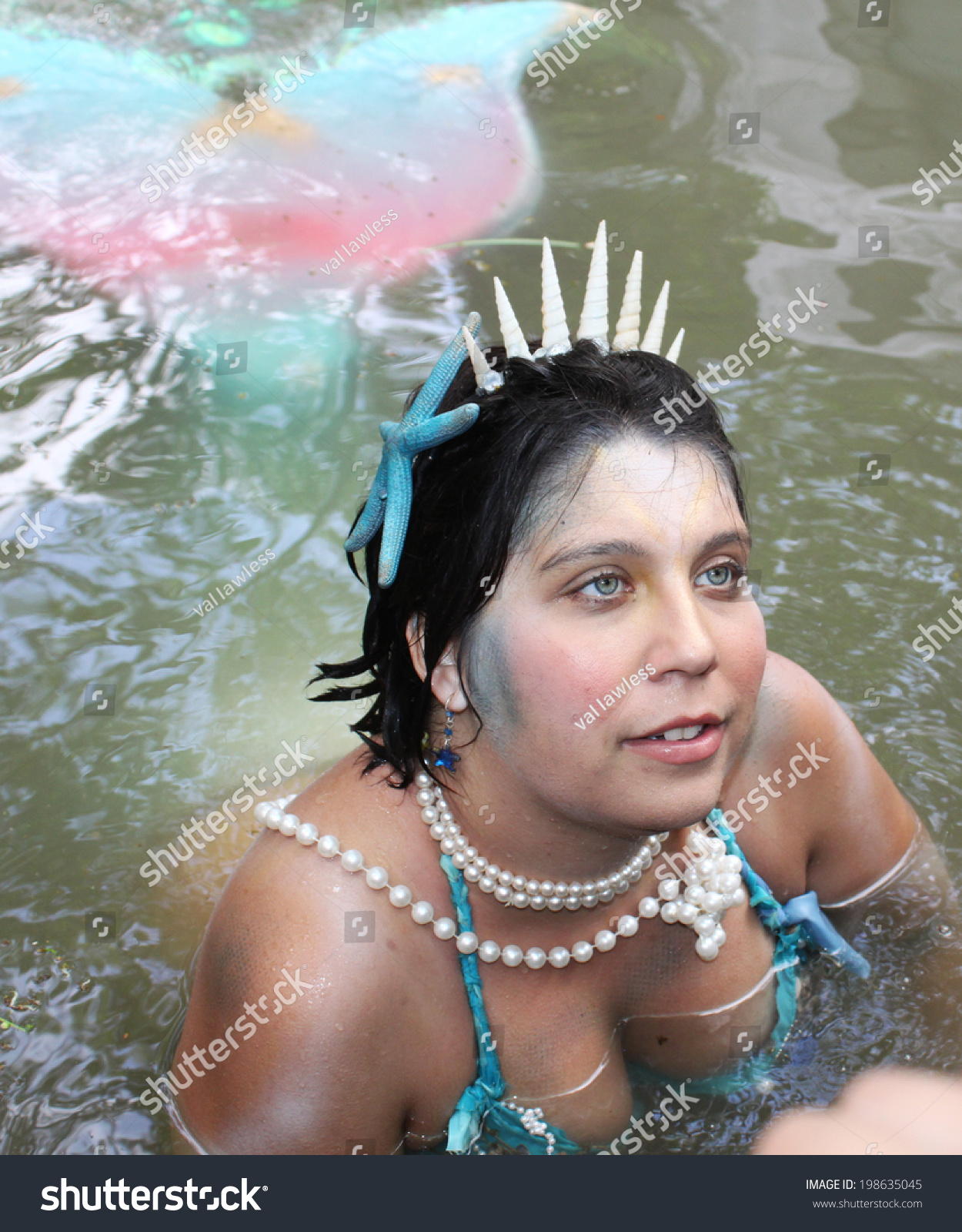 Renaissance Festival Sirens Stock Photo Muskogee Ok May A Mermaid Greets