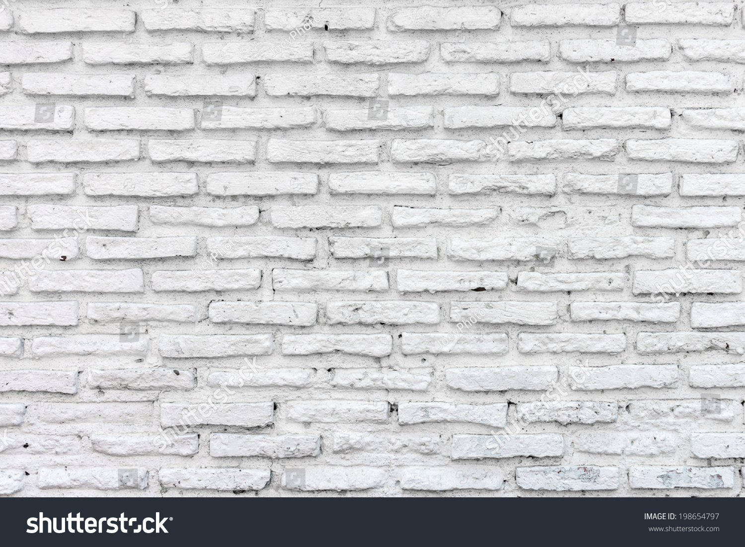 Old White Brick Wall Stock Photo 198654797 Shutterstock