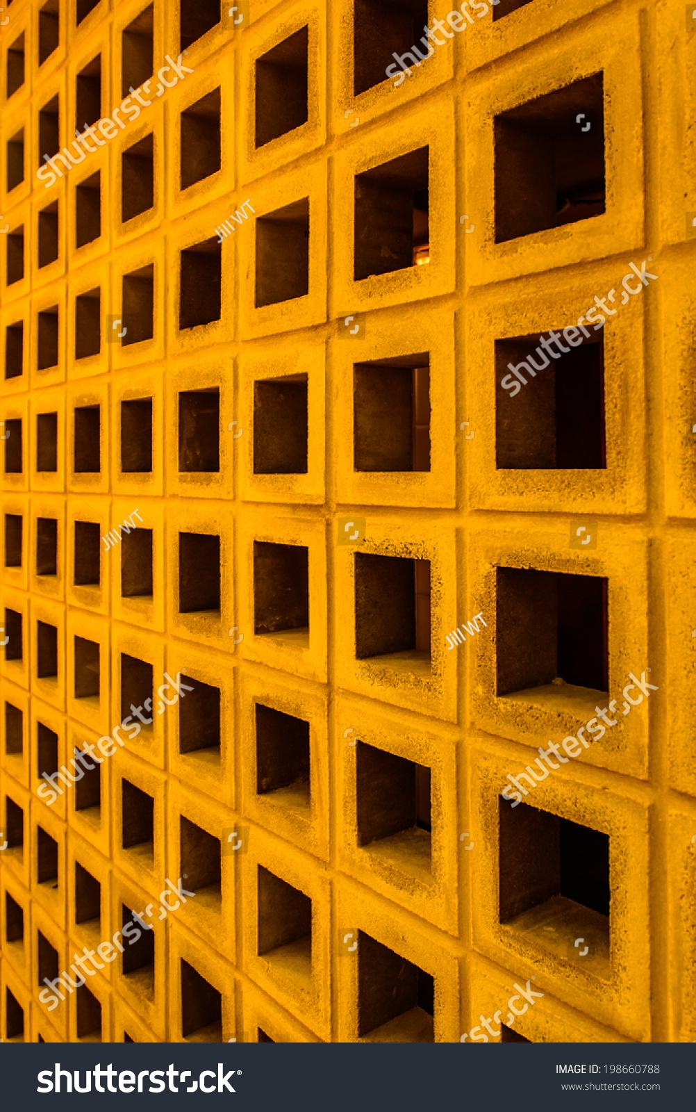 Old Many Orange Color Concrete Cubes Stock Photo 198660788 ...