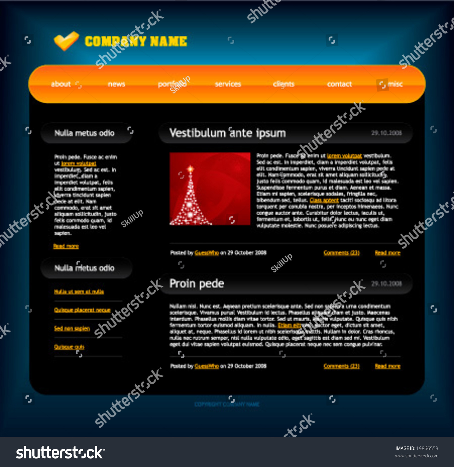 Website template easy use adobe flash stock vector 19866553 website template easy to use in adobe flash or illustrator to export it as a pronofoot35fo Gallery