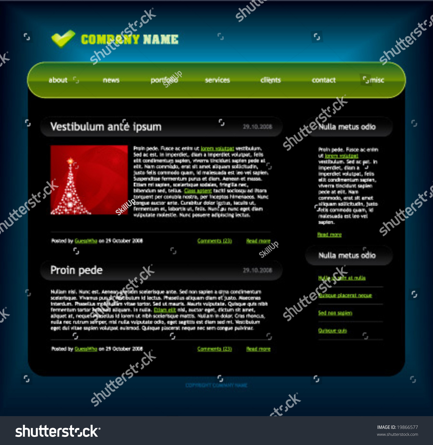 Website template easy use adobe flash stock vector 19866577 website template easy to use in adobe flash or illustrator to export it as a pronofoot35fo Gallery