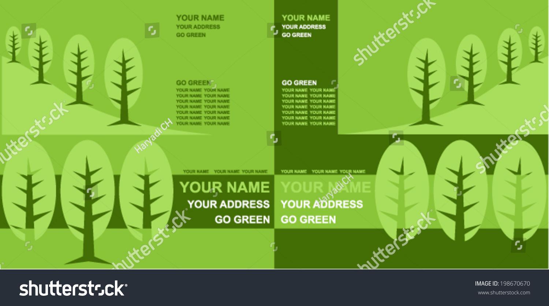 Go green business card stock vector 198670670 shutterstock go green business card reheart Gallery