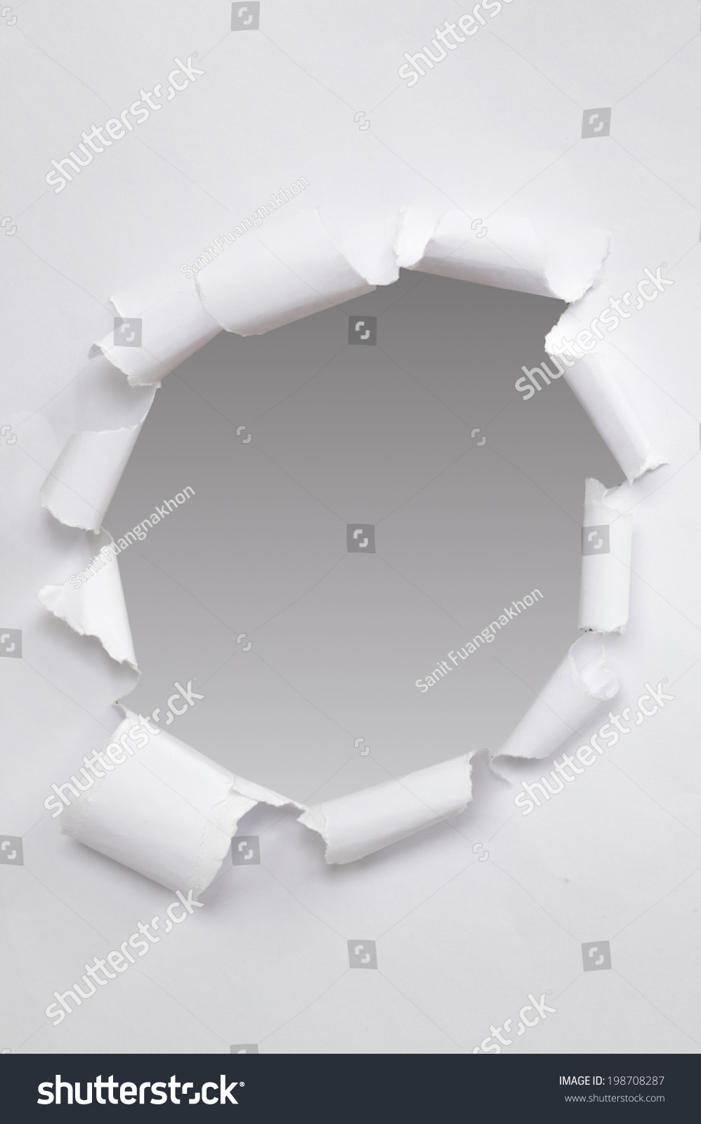 Black Hole On White Paper Stock Photo 198708287 - Shutterstock