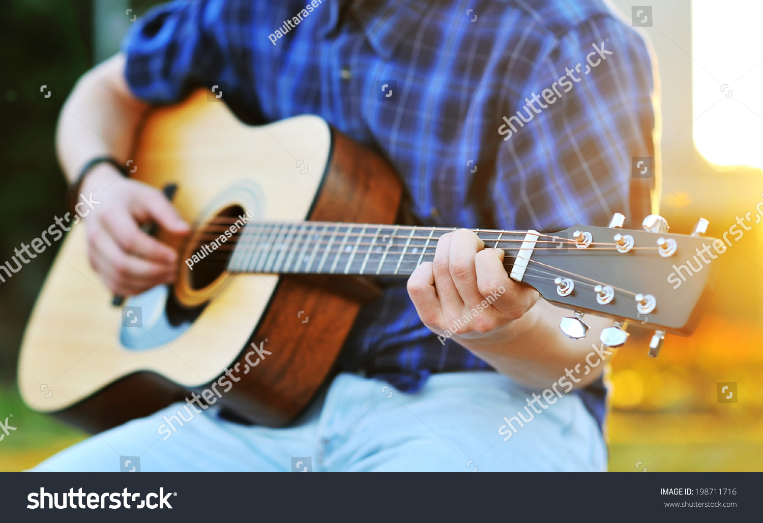 Playing Guitar C Chord Stock Photo Edit Now 198711716 Shutterstock