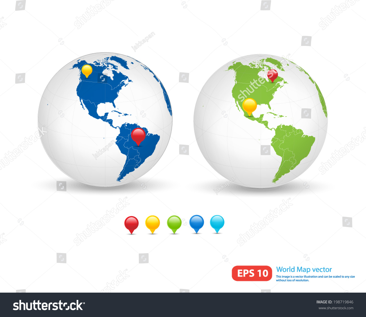New world map globe pin marker vectores en stock 198719846 new world map with globe and pin marker location vector format vector format gumiabroncs Gallery