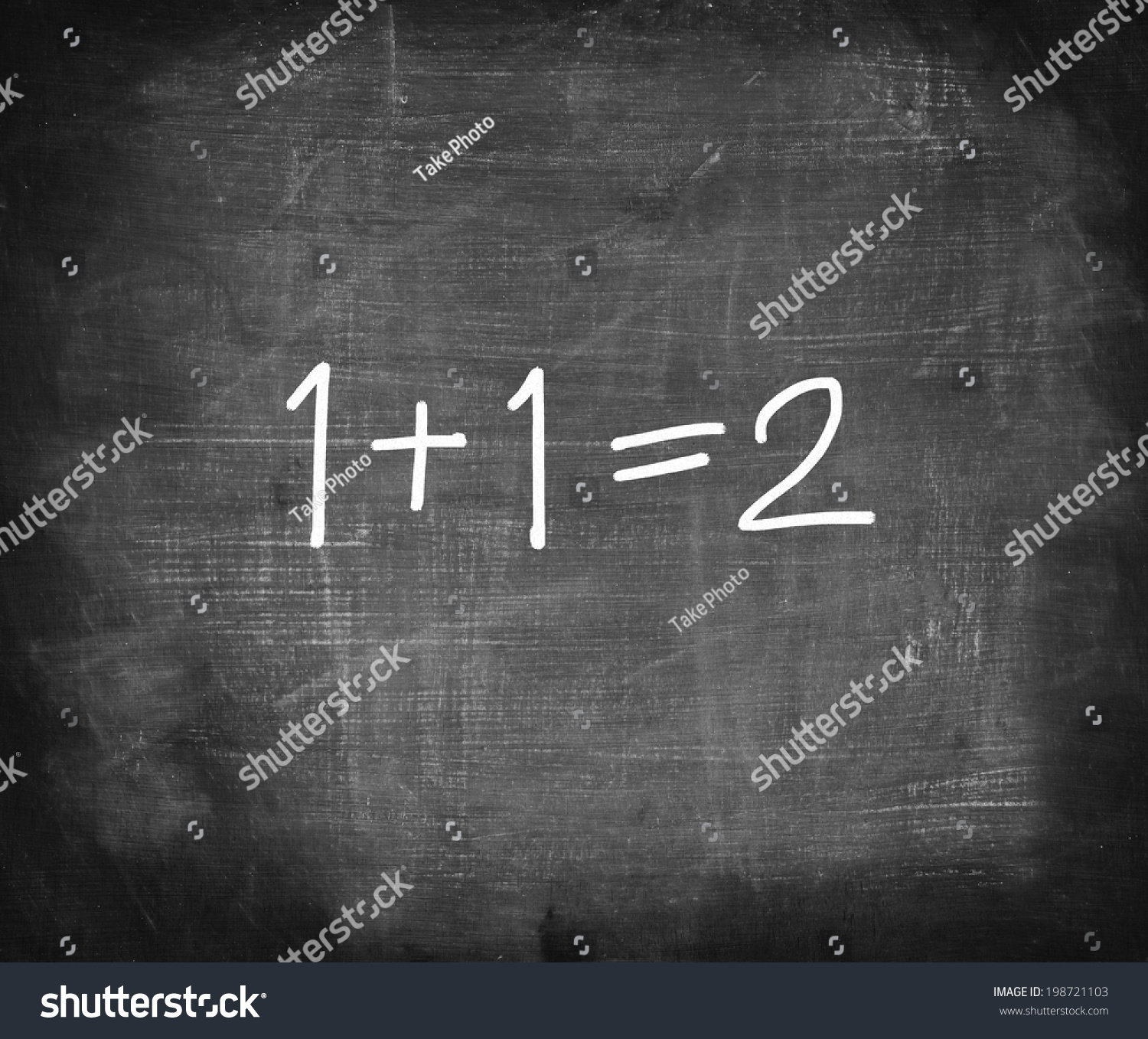 One Add One On Chalkboard Simple Stock Photo 198721103 - Shutterstock