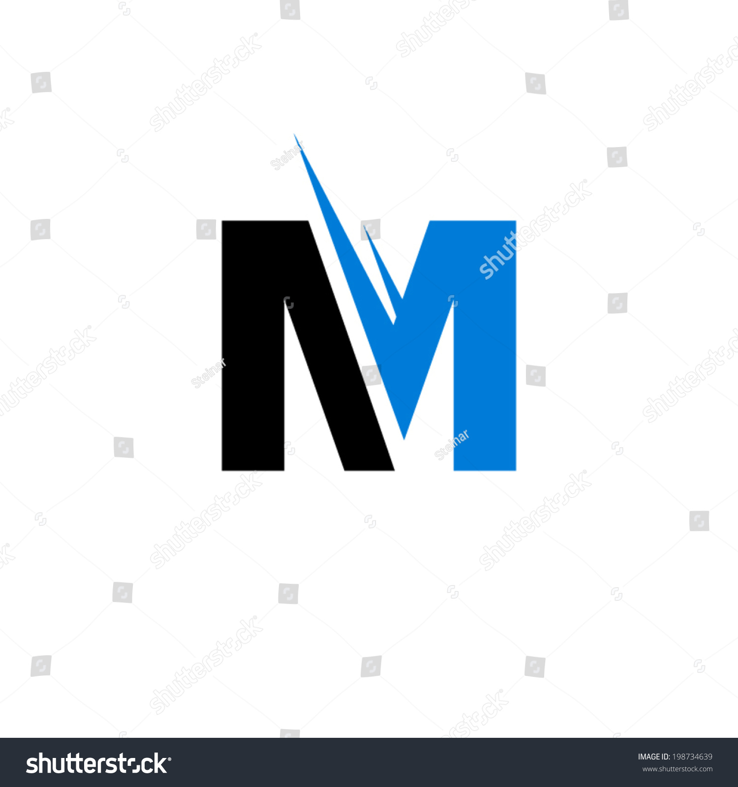 letter m logo sign letter m branding identity corporate stock vector 138