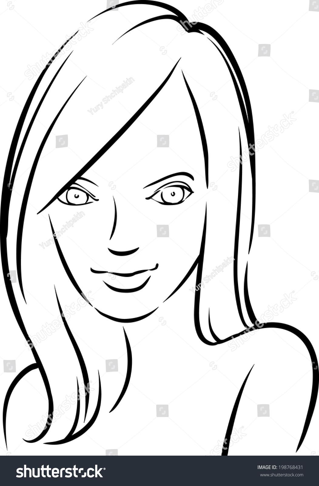 Whiteboard drawing beautiful smiling woman easy edit for Easy whiteboard drawings