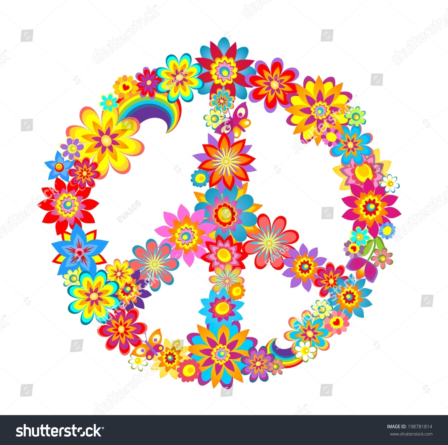 Peace Flower Symbol Stock Vector Shutterstock