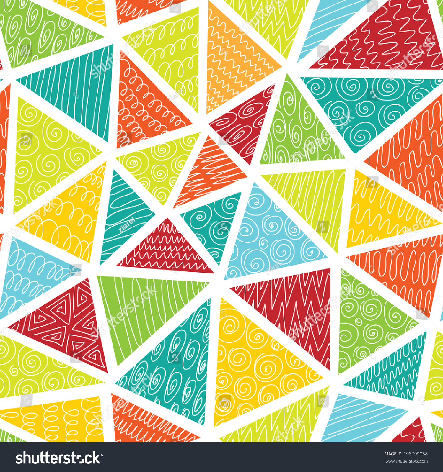 Seamless Colorful Abstract Erased Vector Triangles Stock