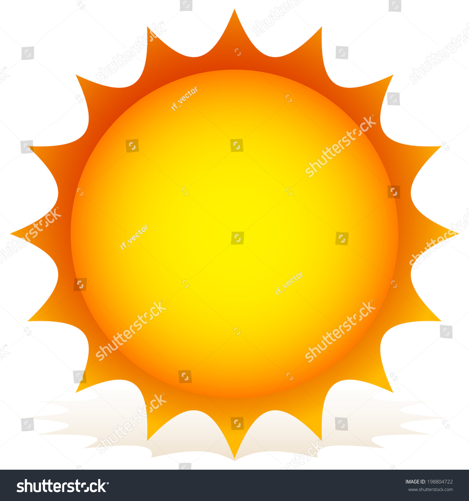glossy sun clipart sun vector illustration stock vector 198804722 rh shutterstock com clipart of a sun clipart of a sunshine
