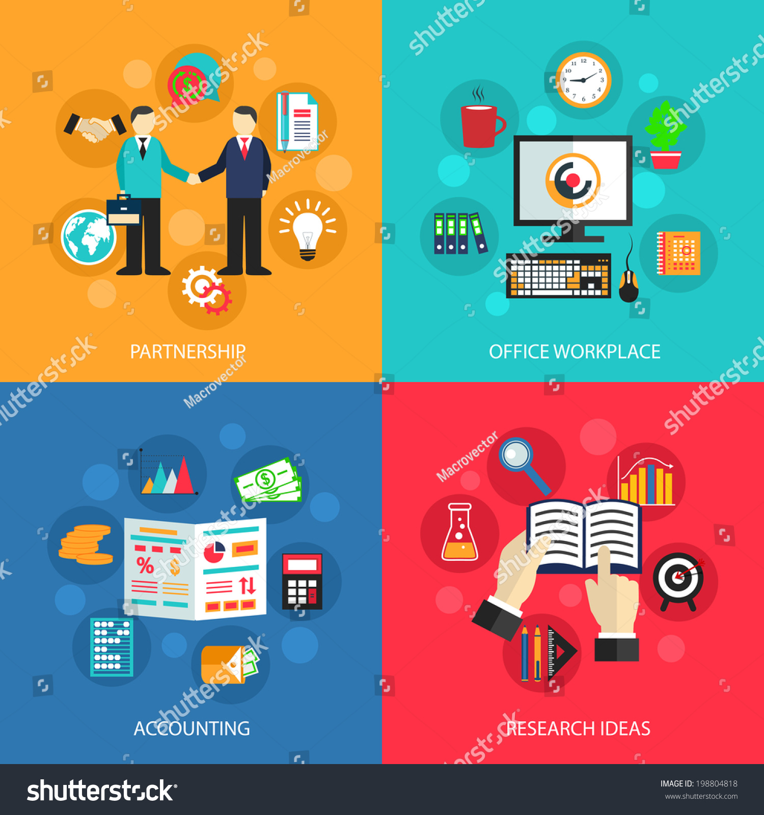 Web Design Project Ideas see the finished website Business Concept Flat Icons Set Of Partnership Office Meeting Accounting Workplace And Project Ideas For Infographics Design Web Elements Vector