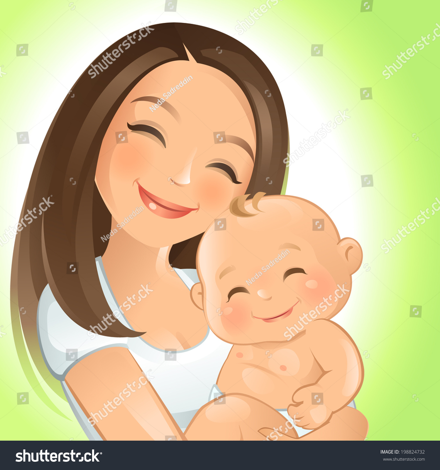 Mommy Stock Vector 198824732 - Shutterstock