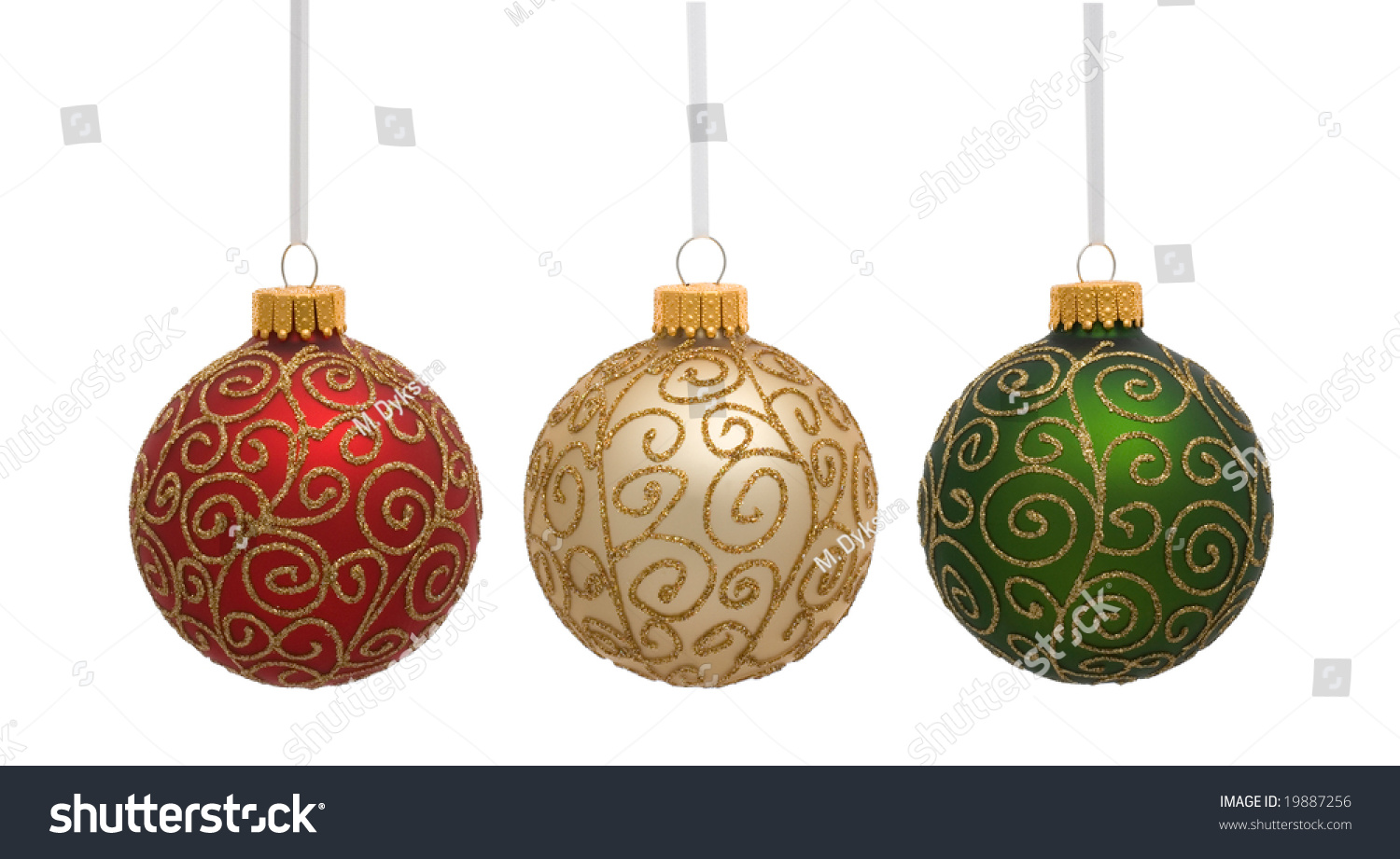 red gold and green christmas ornaments on white - White And Gold Christmas Ornaments