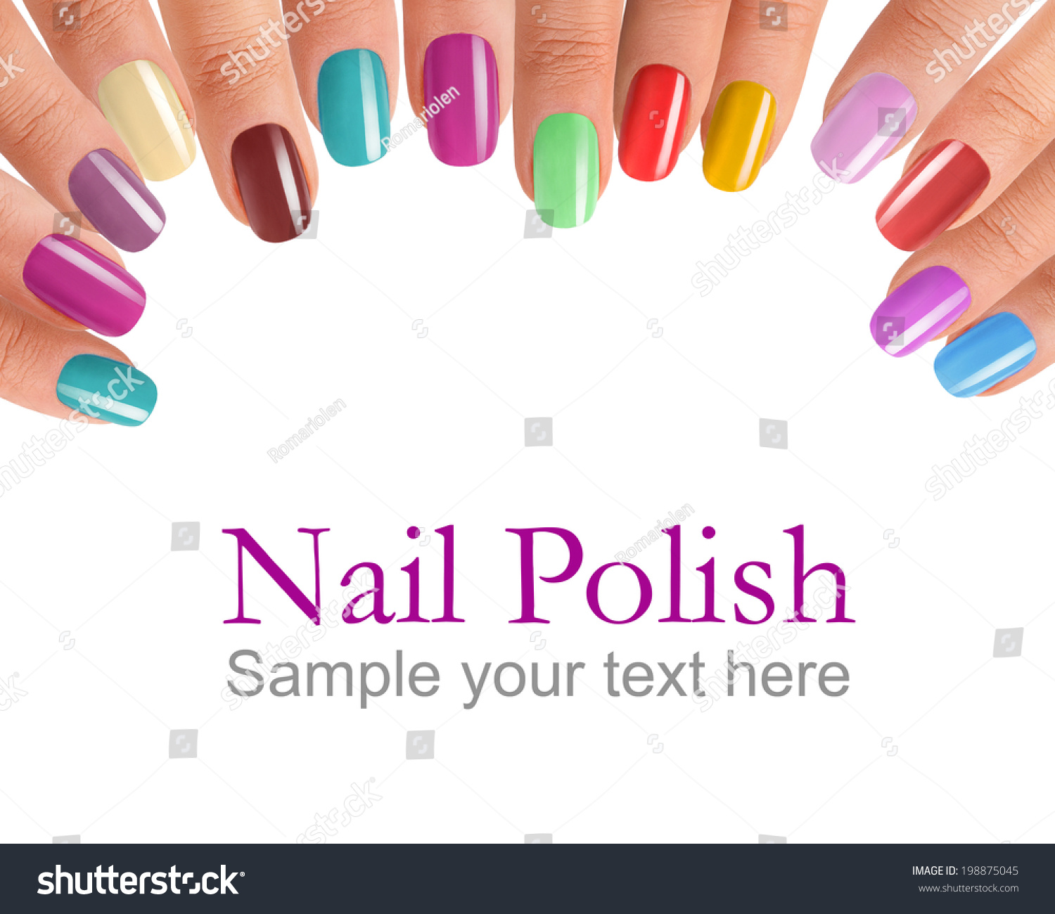 Royalty-free Fingers with colorful nail polish /… #198875045 Stock ...