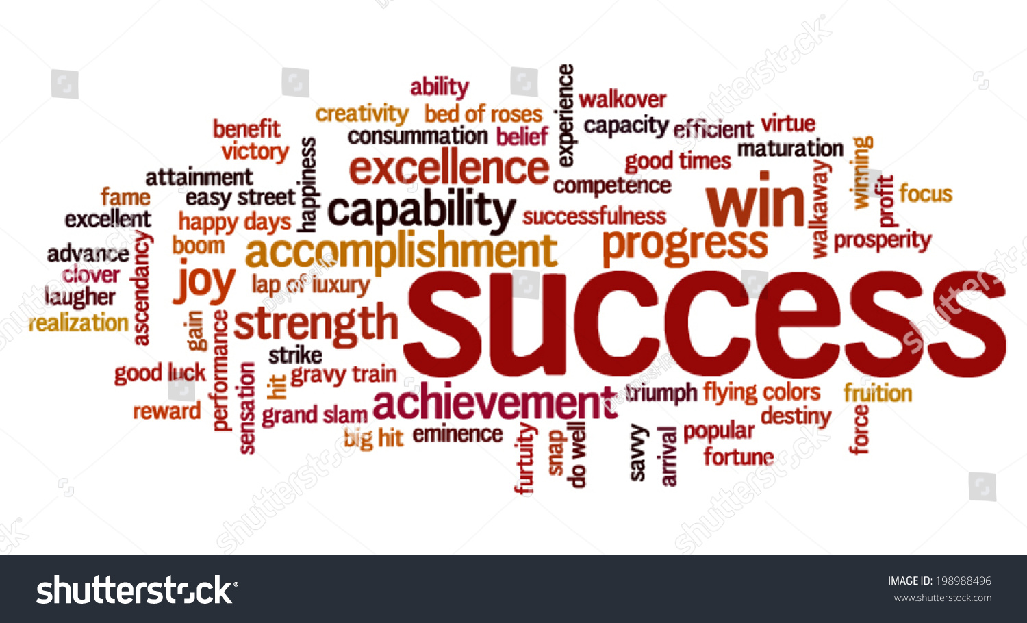 Word Cloud Containing Words Related Success Stock Vector ... The Word Succeed