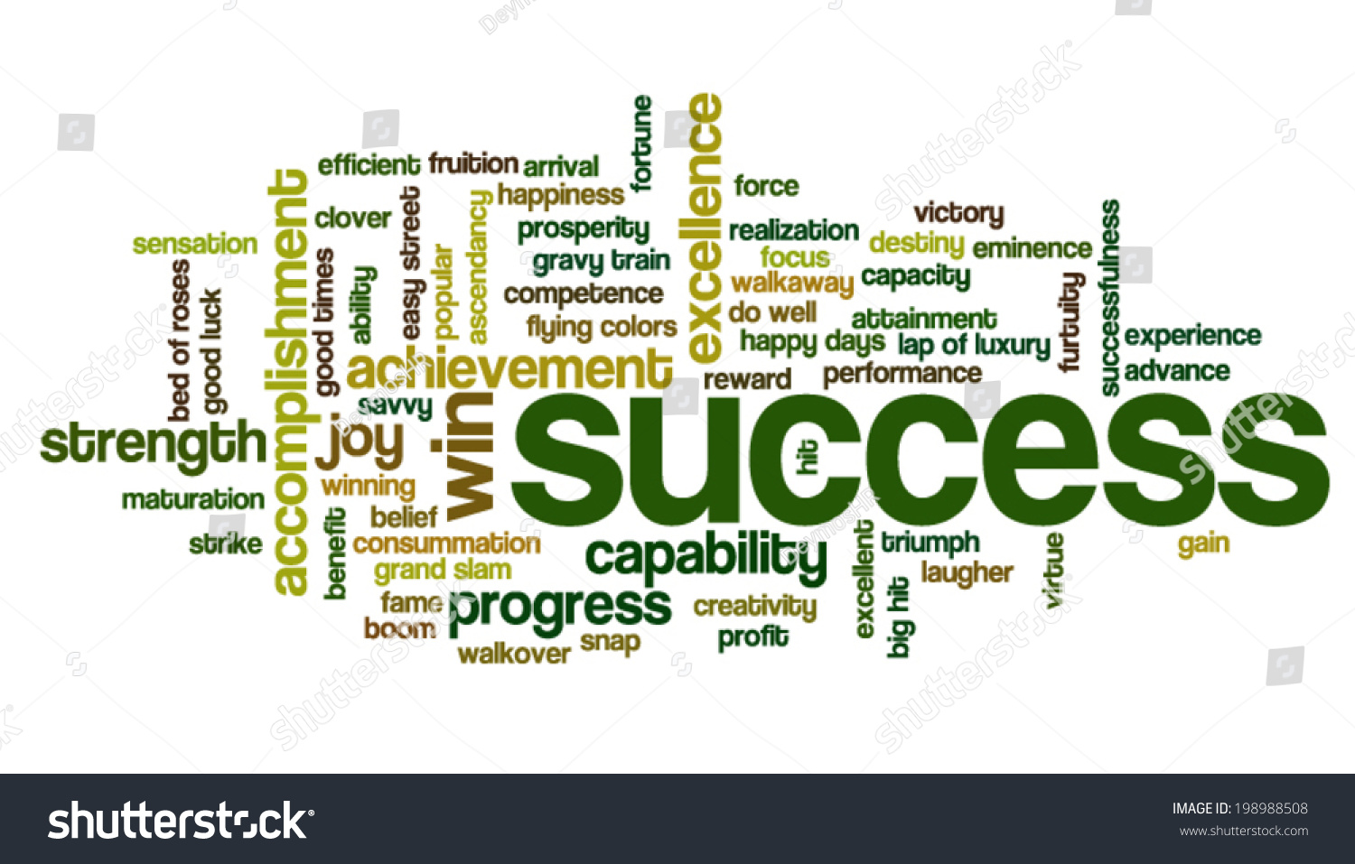 word cloud containing words related success stock vector  word cloud containing words related to success accomplishment winning achievement strength