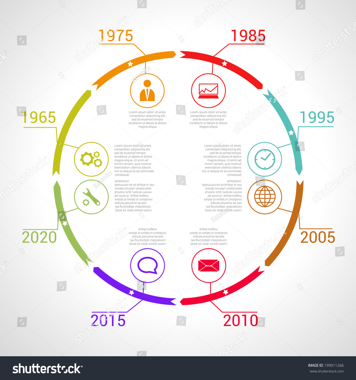circle timeline infographic vector design template stock vector 199011266 shutterstock. Black Bedroom Furniture Sets. Home Design Ideas