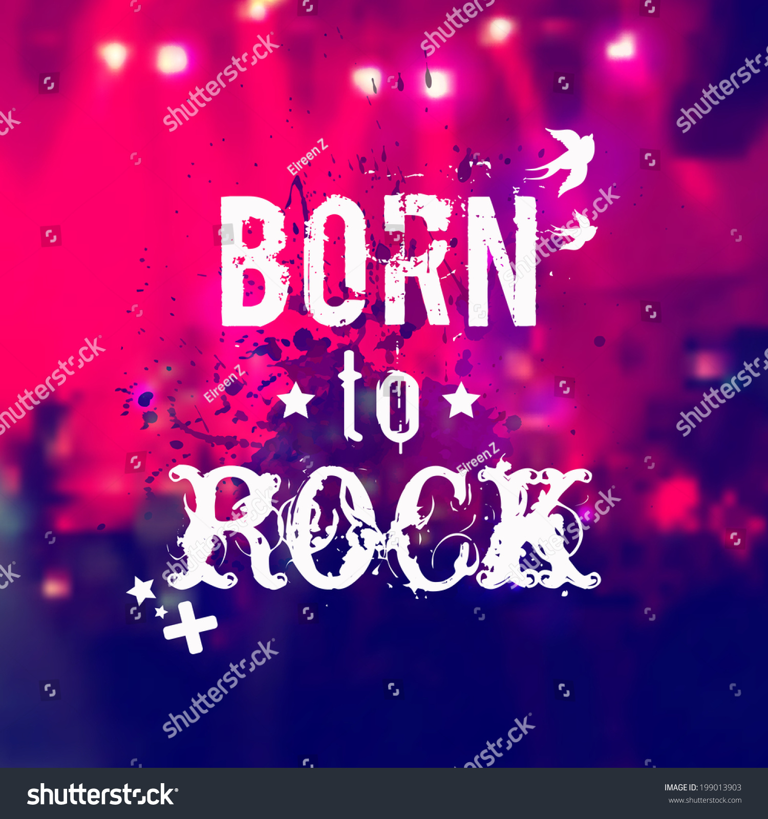 vector blurred background rock stage crowd stock vector