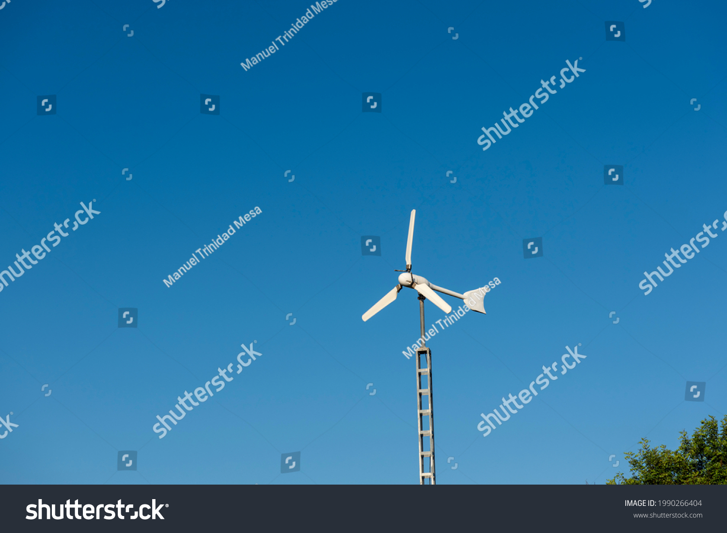 stock-photo-wind-turbine-for-home-use-on