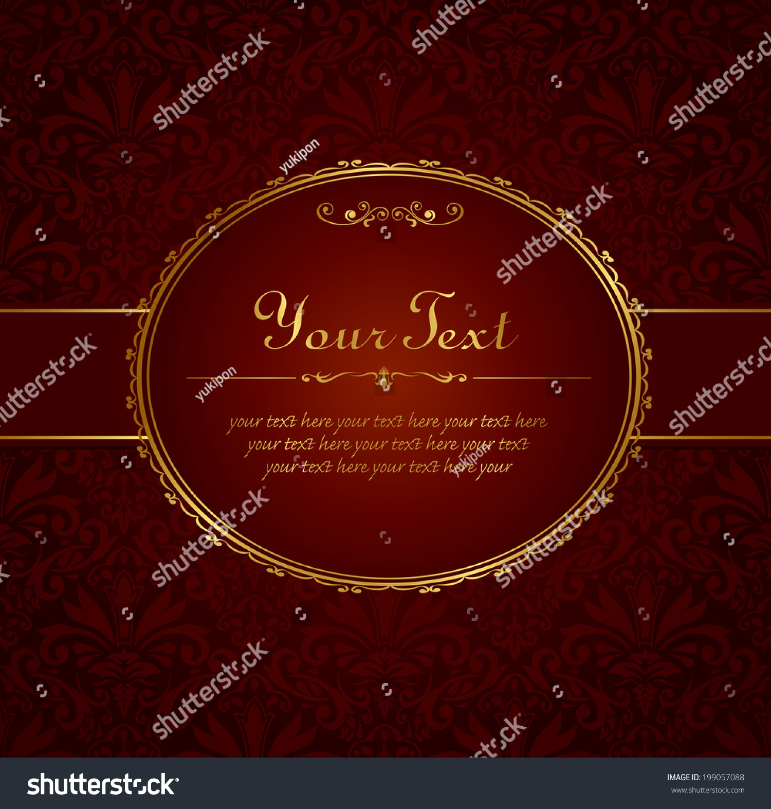 Invitation vintage label vector frame stock vector 199057088 invitation vintage label vector frame stopboris Image collections