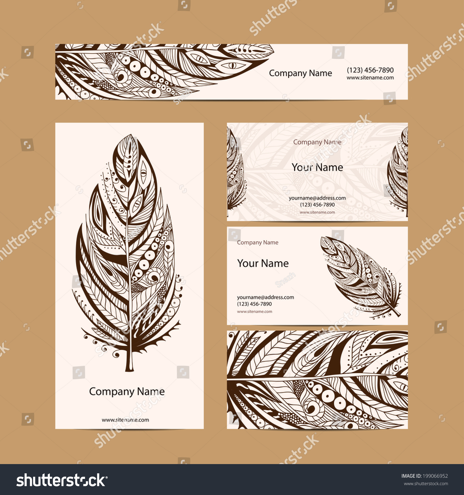 Set Retro Business Card Vector Background Vector 199066952 – Invitation Card Business