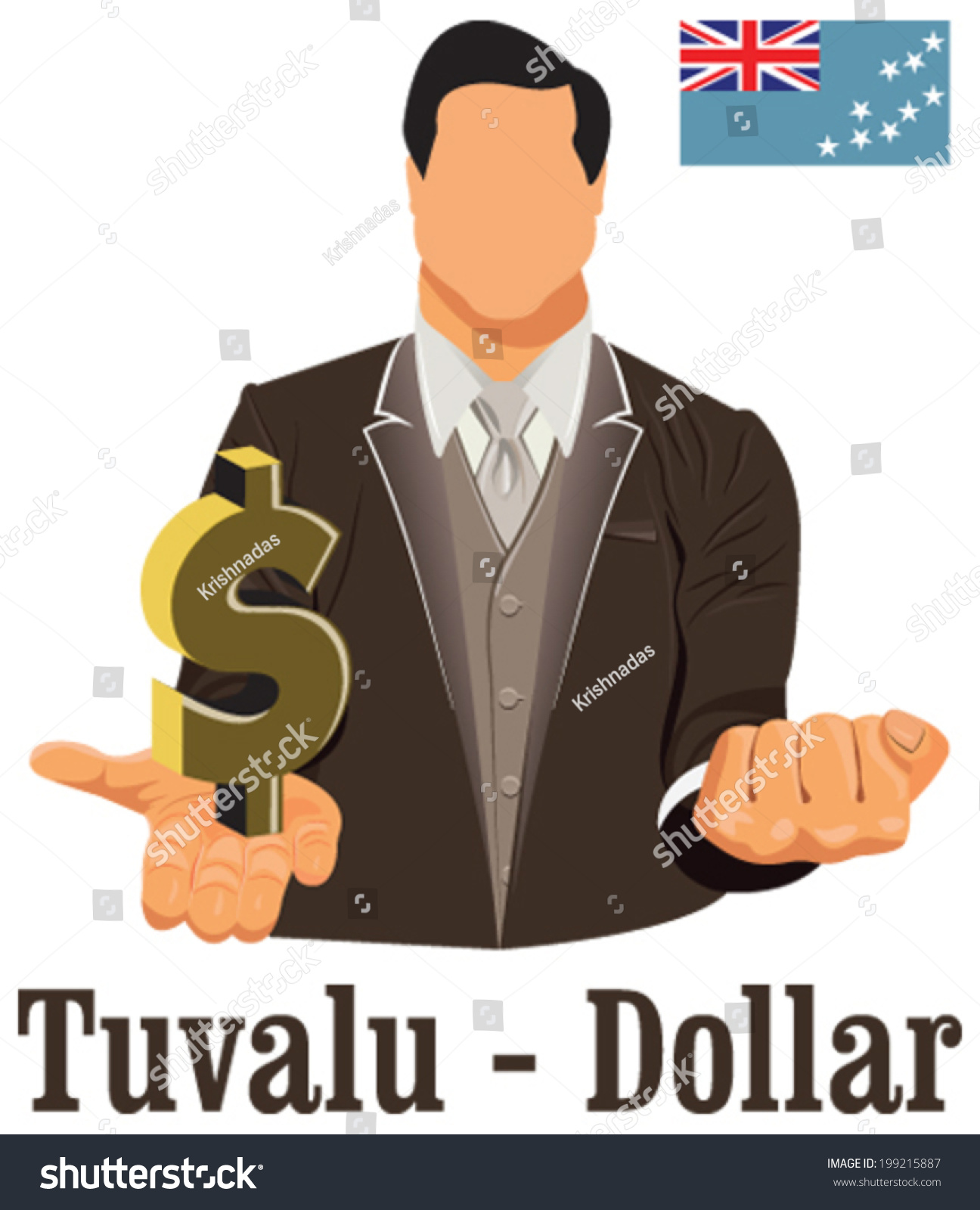 Tuvalu currency symbol dollar representing money stock vector tuvalu currency symbol dollar representing money and flag vector design concept of businessman in suit biocorpaavc
