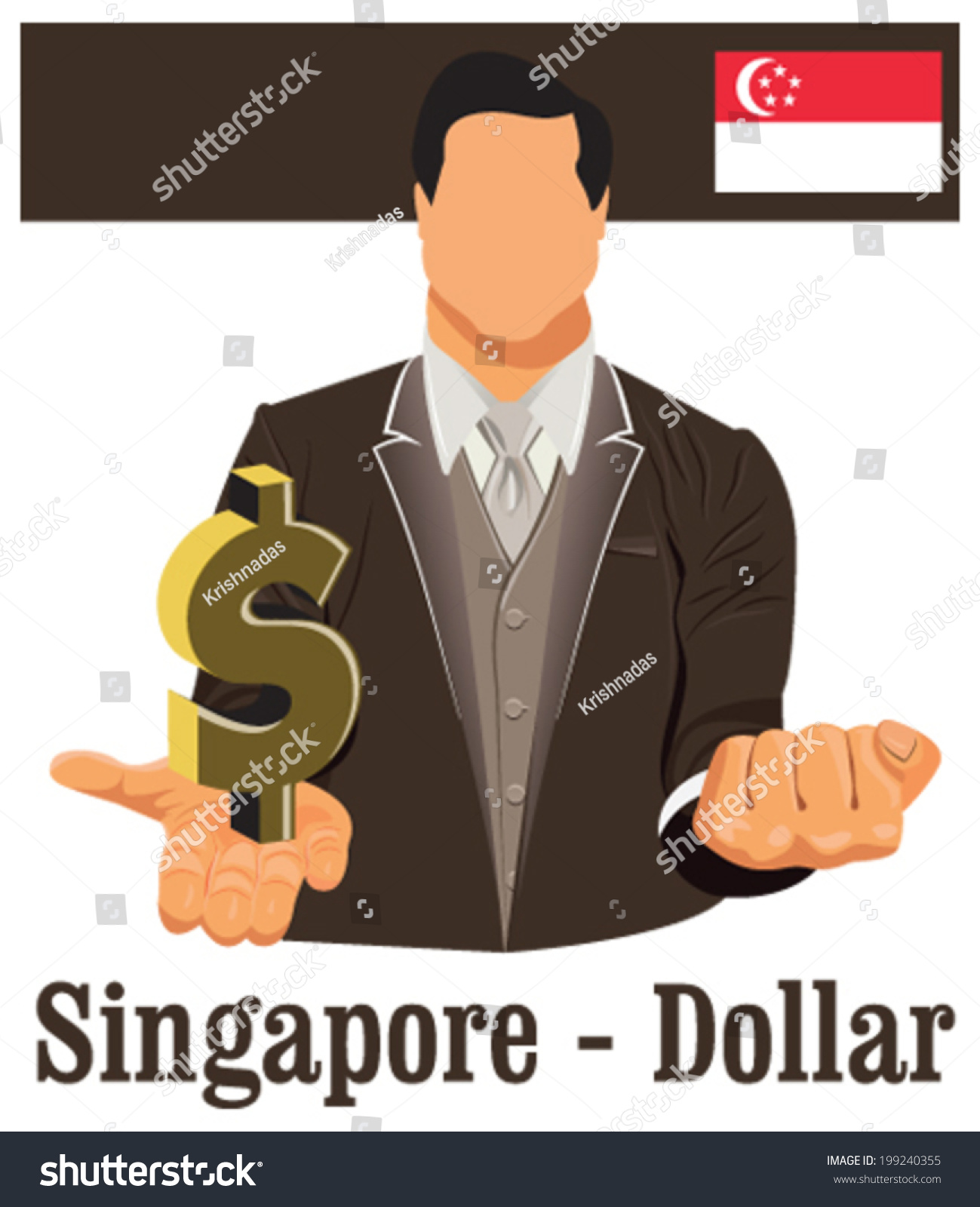 Singapore national currency symbol dollar representing stock singapore national currency symbol dollar representing money and flag vector design concept of businessman in biocorpaavc