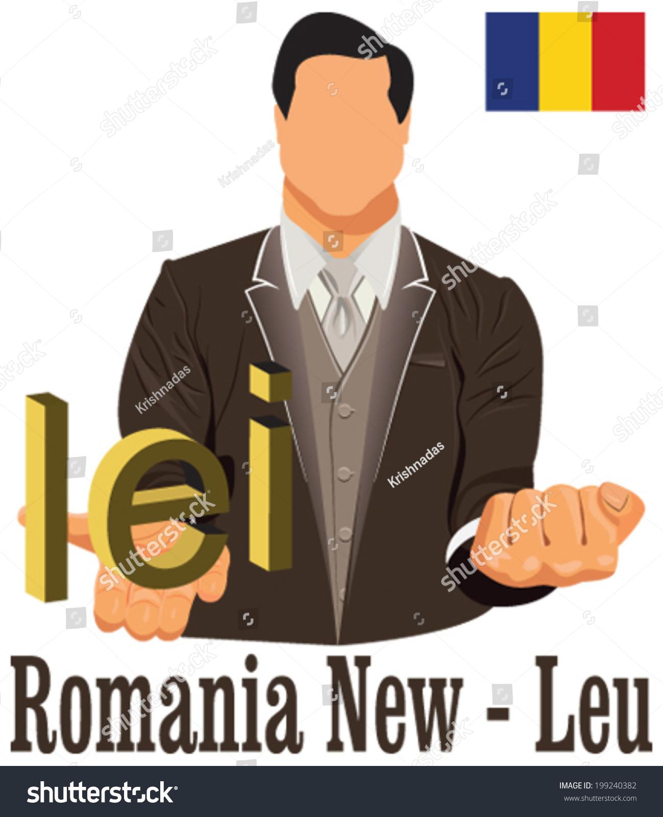 Romania national currency symbol romanian leu stock vector romania national currency symbol romanian leu representing money and flag vector design concept of businessman biocorpaavc