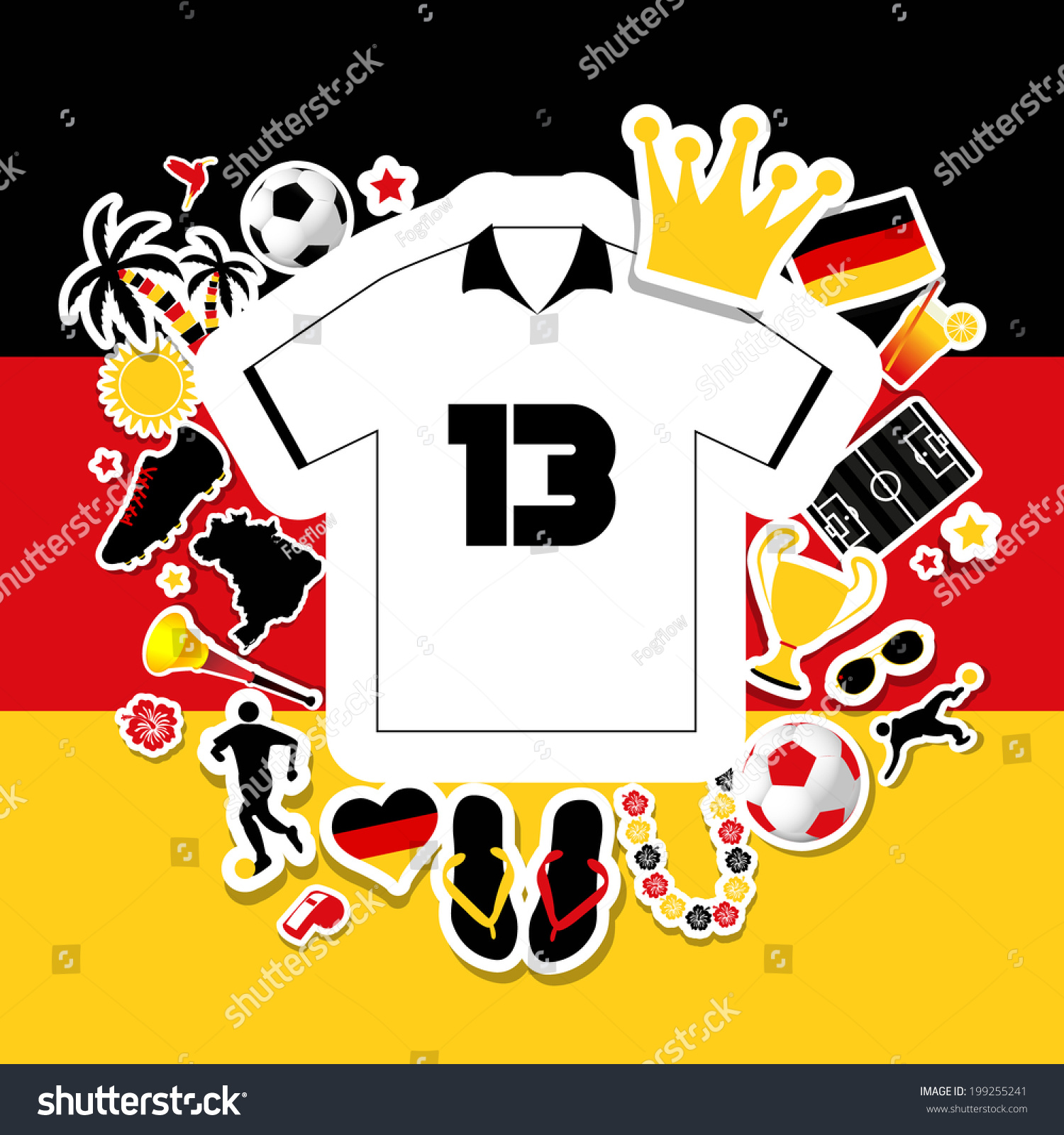 Germany Soccer Top Scorer Stock Vector Royalty Free 199255241