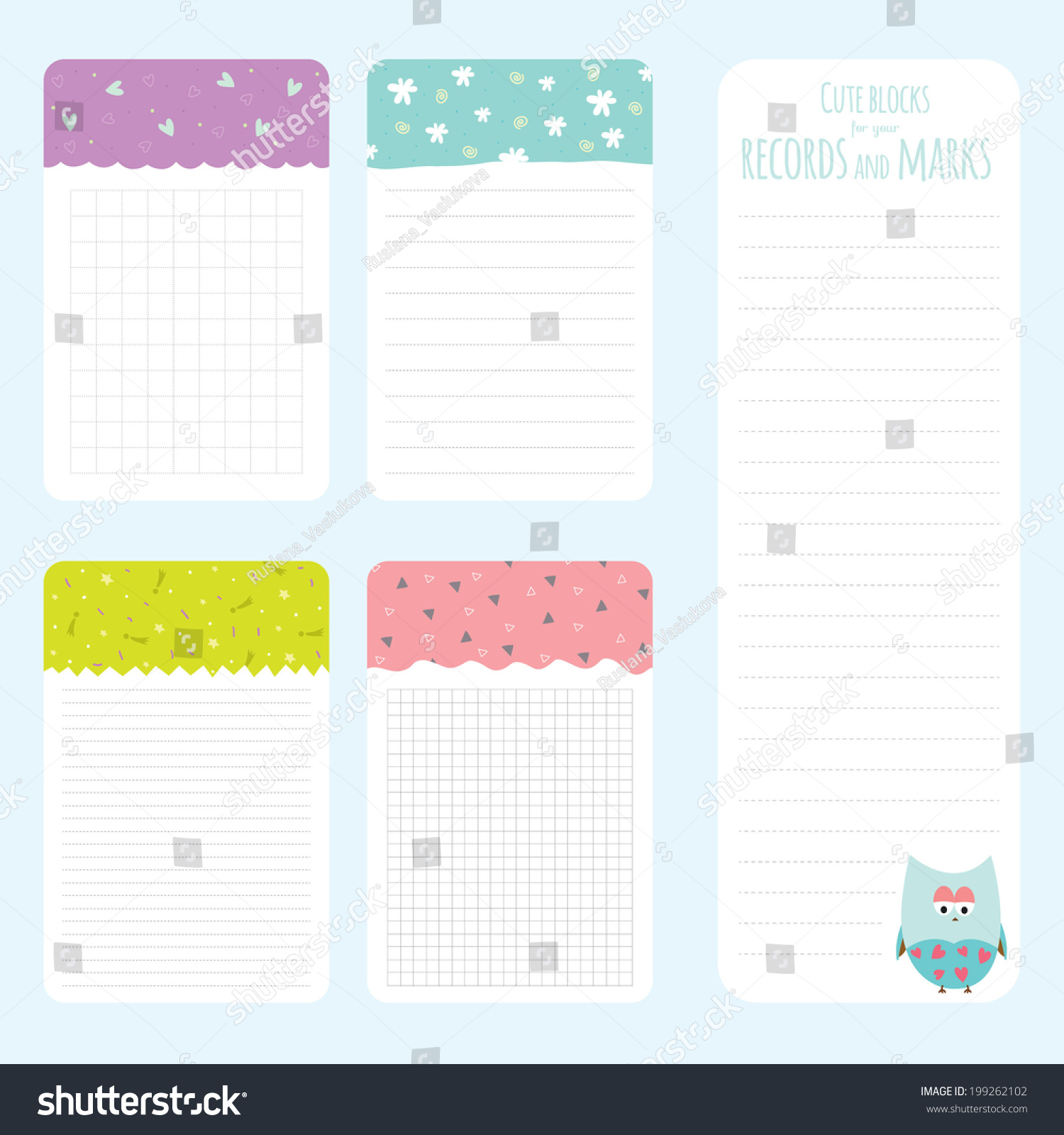Vector Design Elements Notebook Diary Stickers Vector – Diary Paper Template