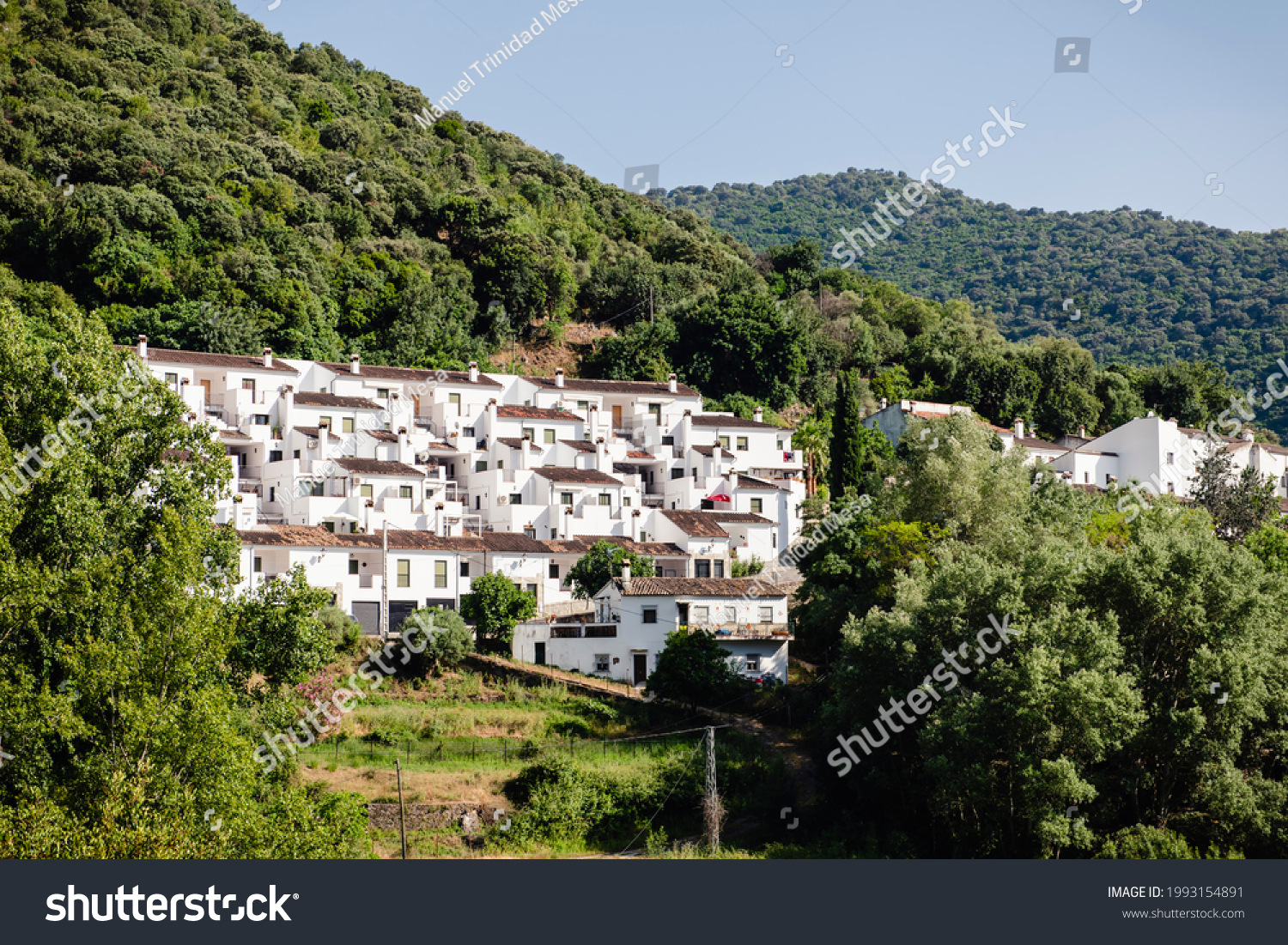Benamahoma, one of the white towns in the province of Cadiz, Andalusia, Spain.