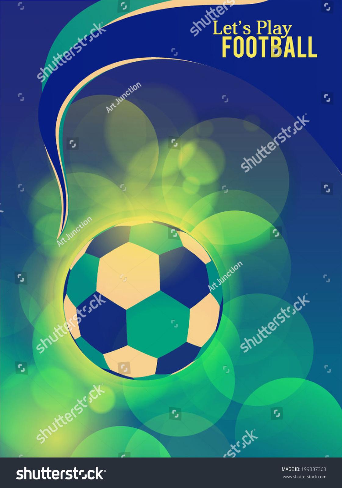 Brazilian Flag Concepts Football Festive Season Stock Vector ...