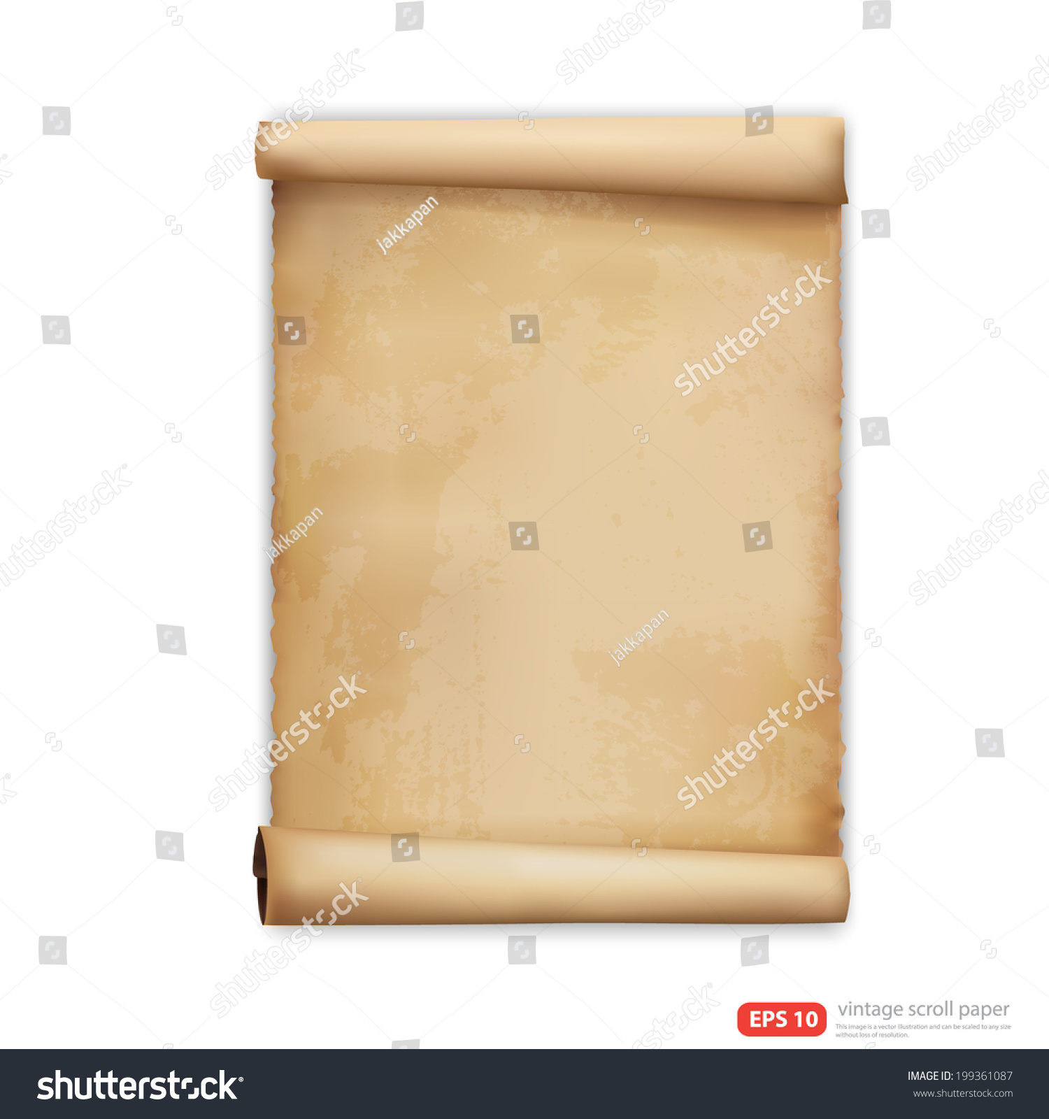 Antique Scroll Paper: Vintage Scroll Paper Vector Format Stock Vector 199361087