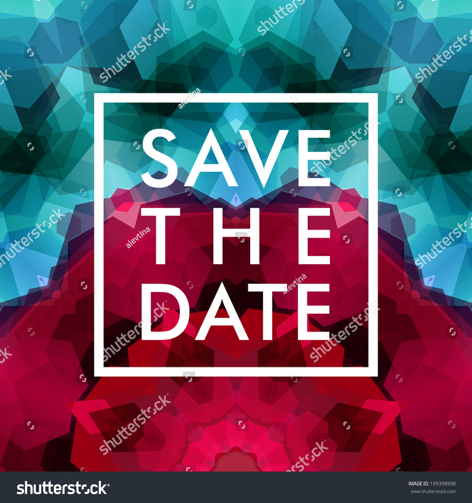 Save Date Personal Holiday Wedding Invitation Stock Vector 199398998 ...