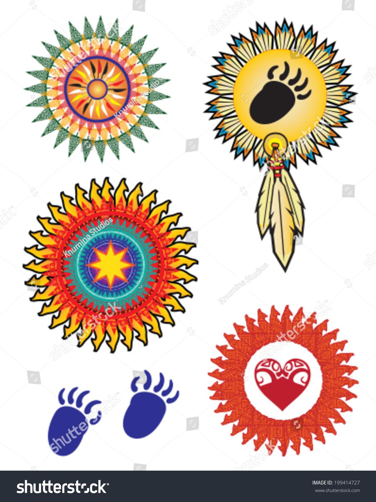 Native American Indian Symbols Vector Stock Vector Royalty Free