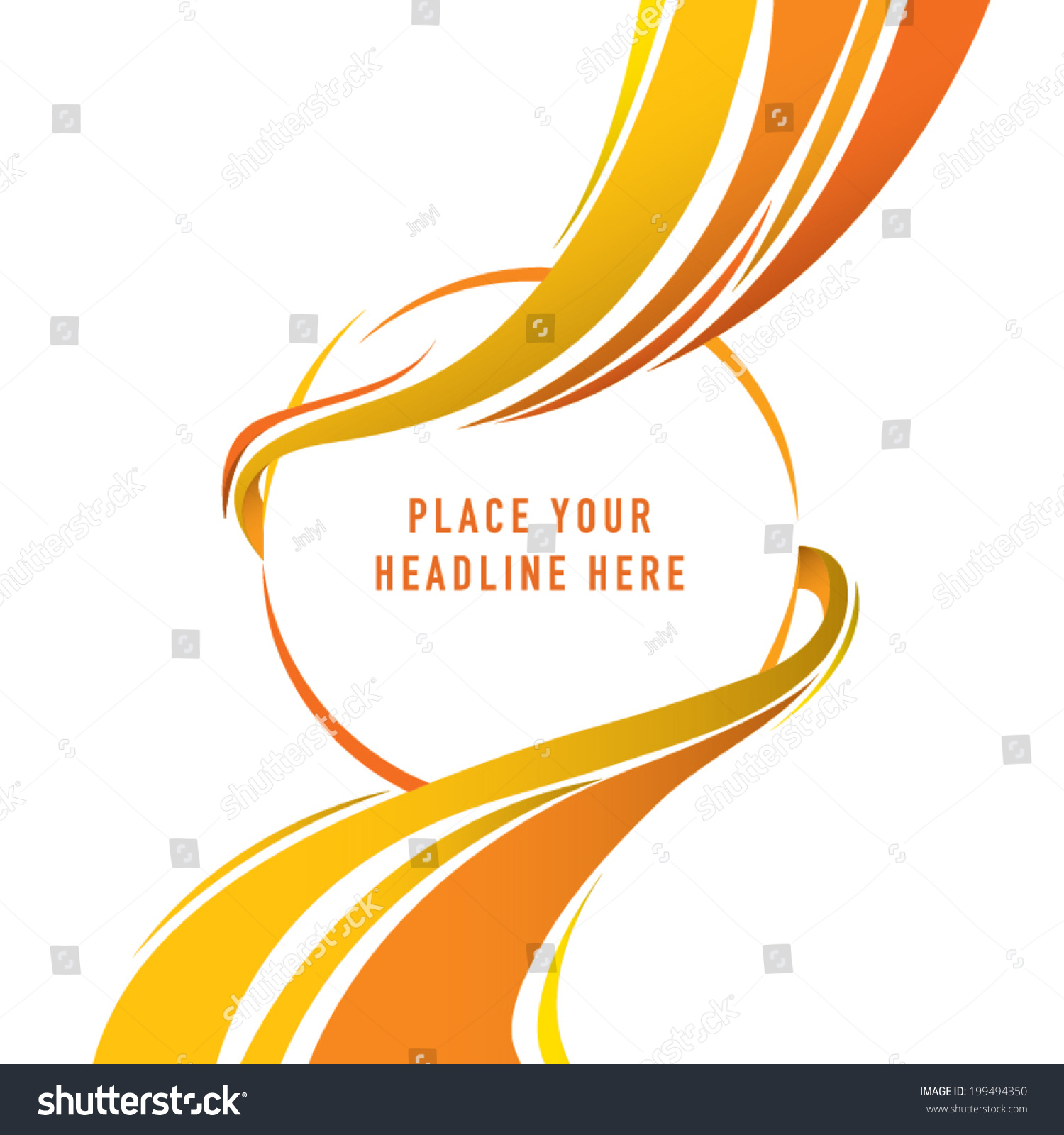 abstract swirl background template design orange stock vector
