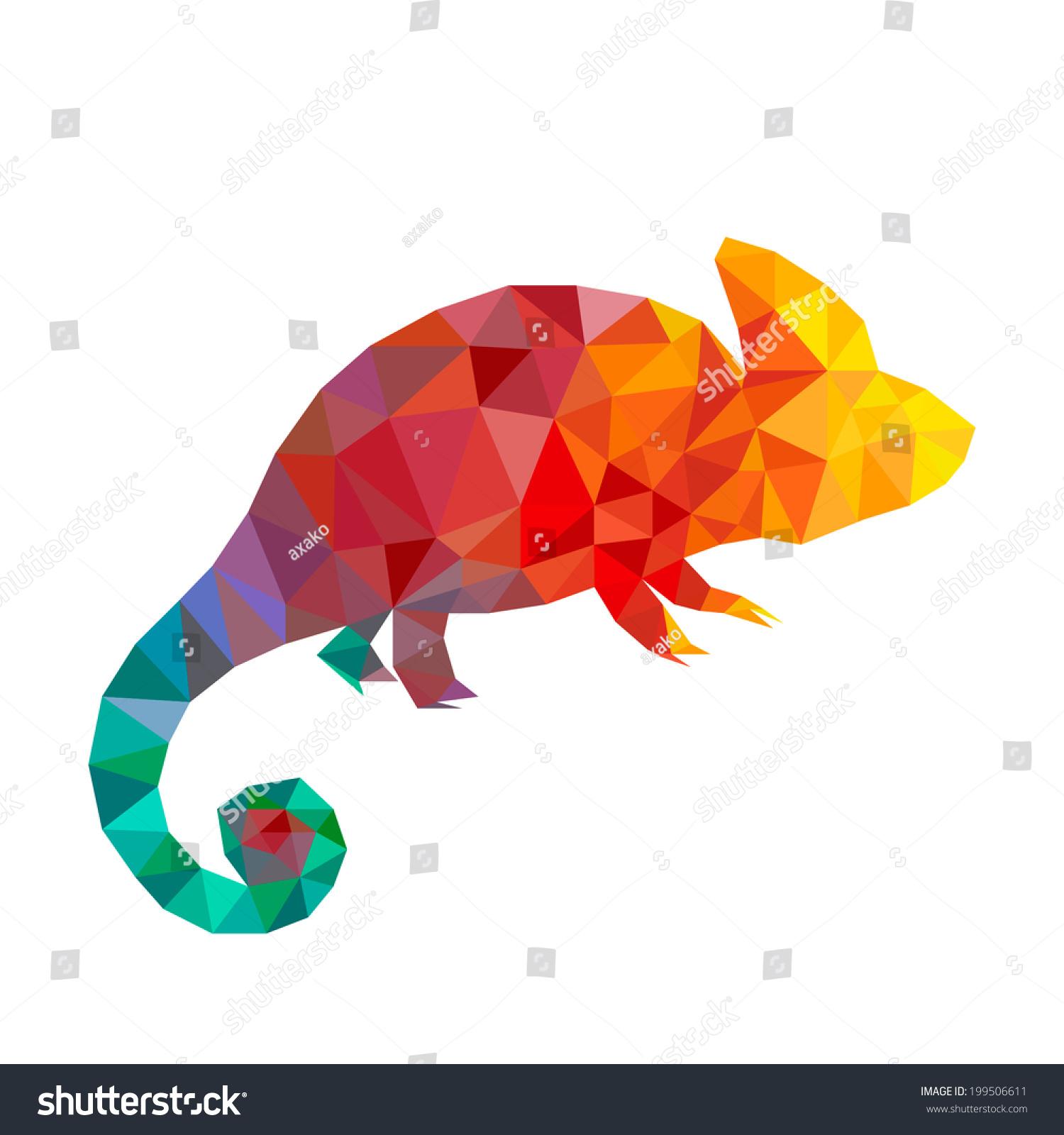 Origami Simple Lizard