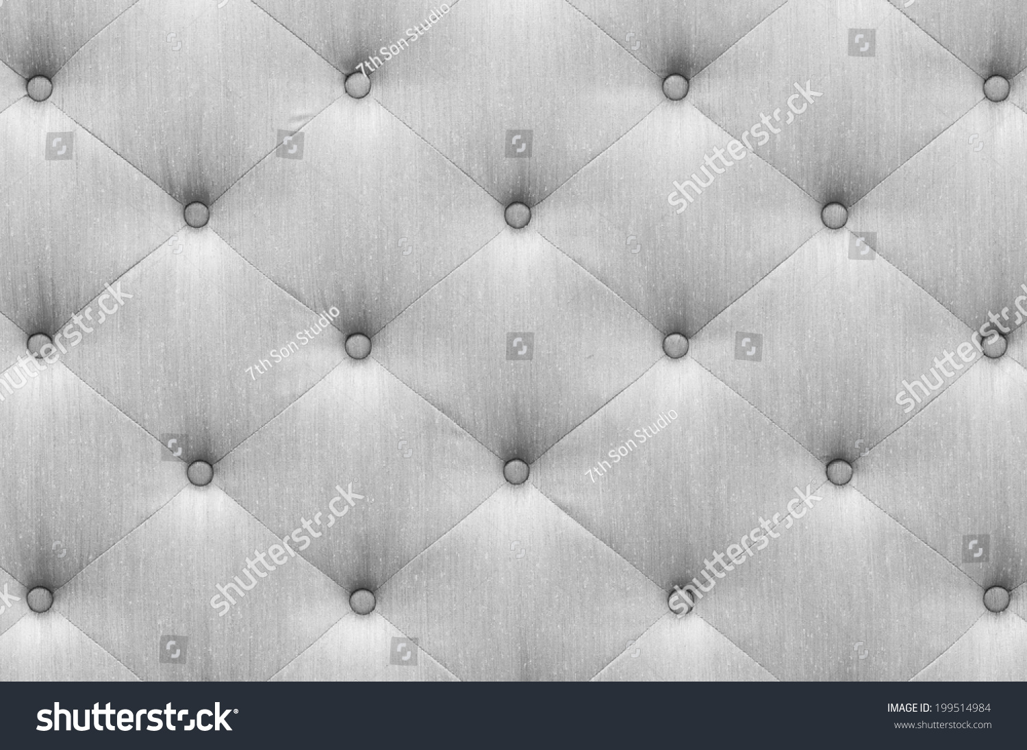 Close Up Vintage Style Gray Color Sofa Cloth Texture With Ons