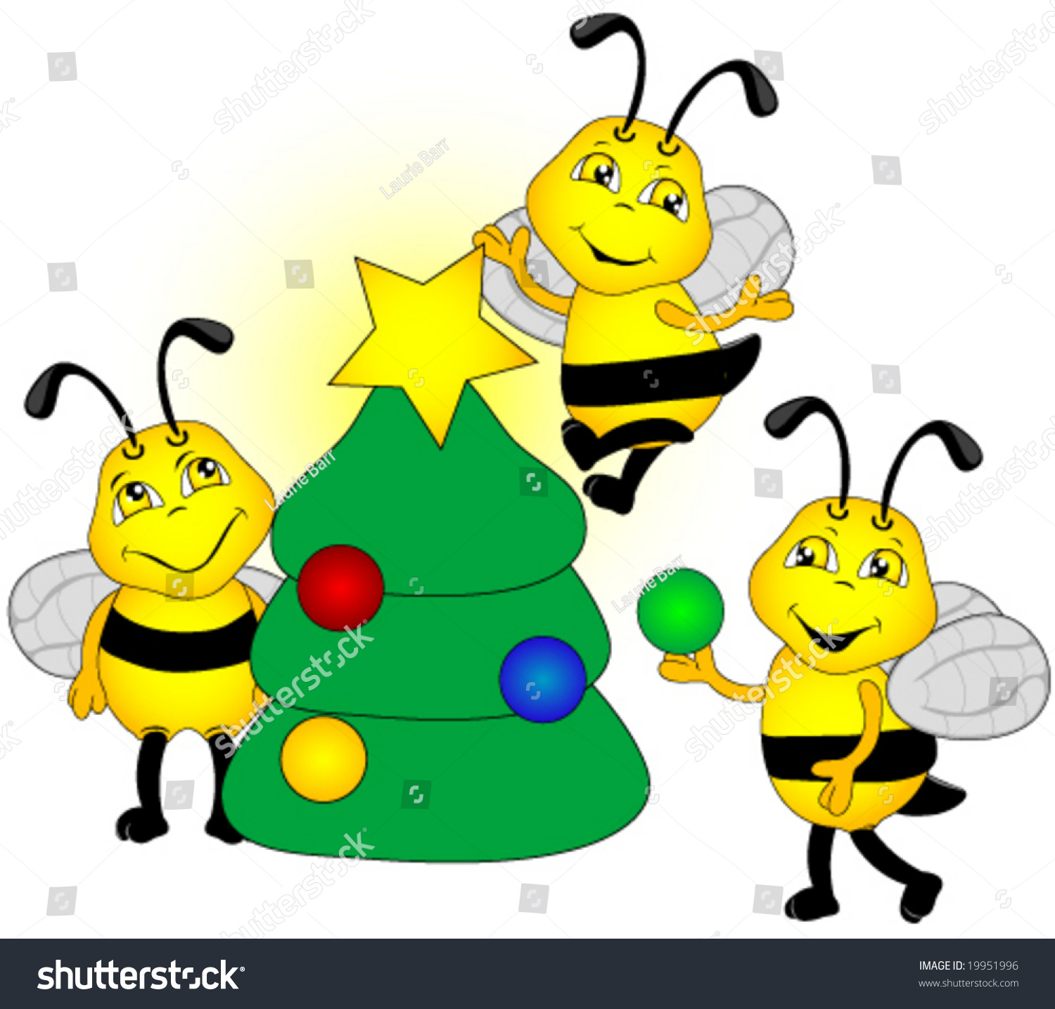 Christmas Tree Decorated By Bees