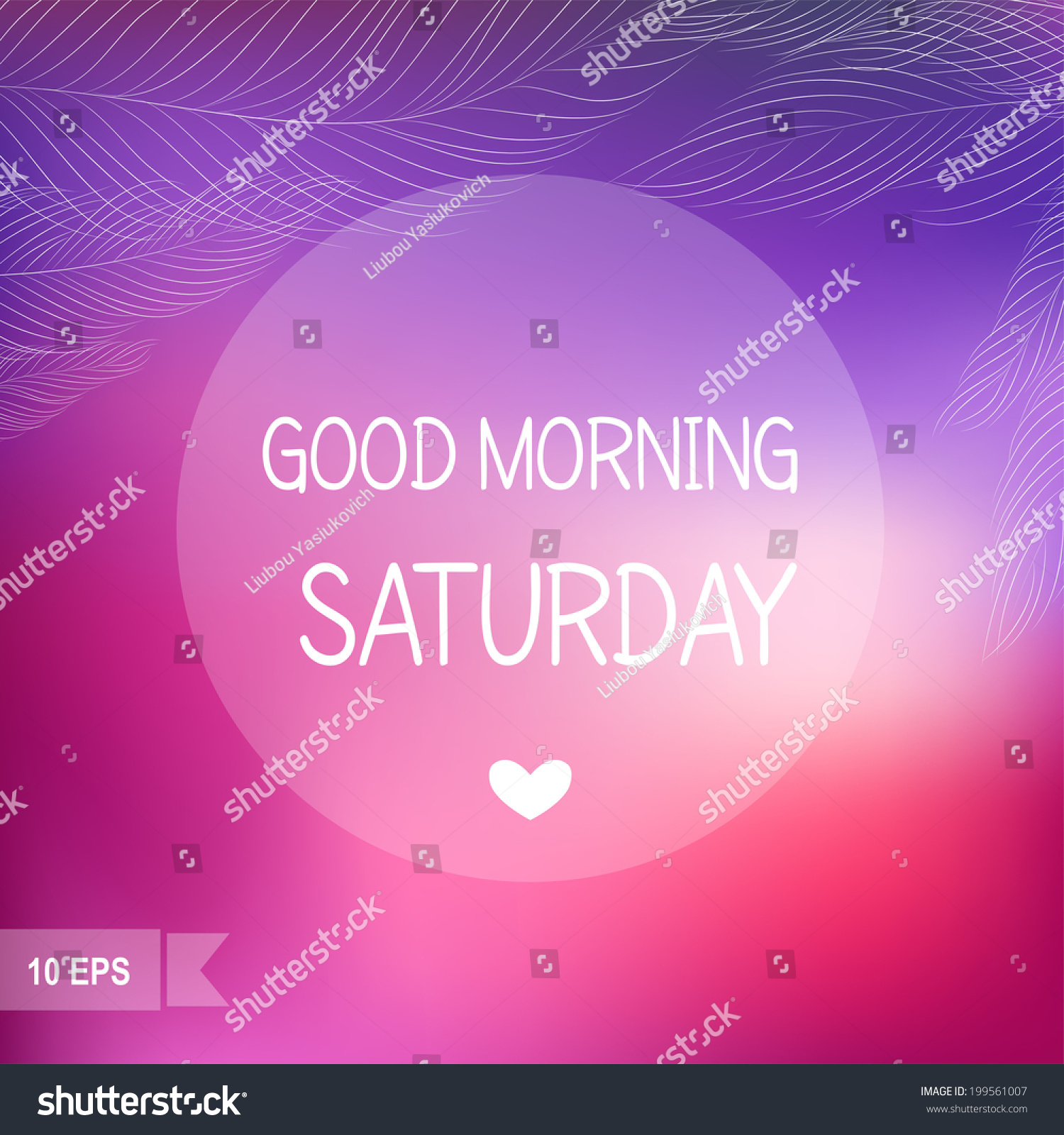 Days Week Good Morning Saturday On Stock Vector Royalty Free