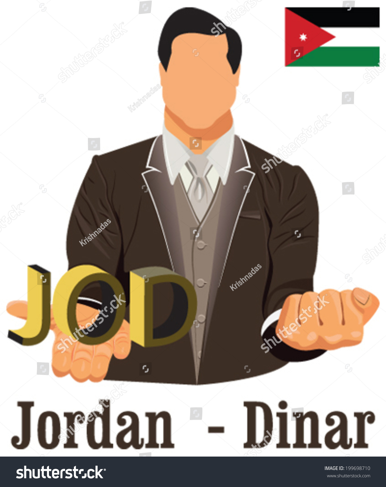 Jordan national currency jordanian dinar symbol stock vector jordan national currency jordanian dinar symbol representing money and flag vector design concept of businessman biocorpaavc Gallery