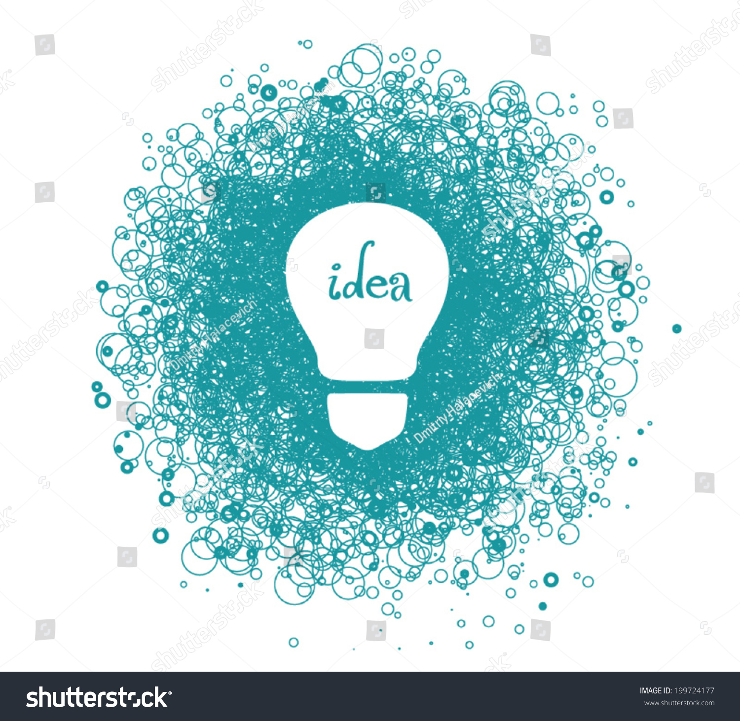 Light bulb idea symbol chaos stock vector 199724177 shutterstock light bulb idea symbol of chaos biocorpaavc Image collections